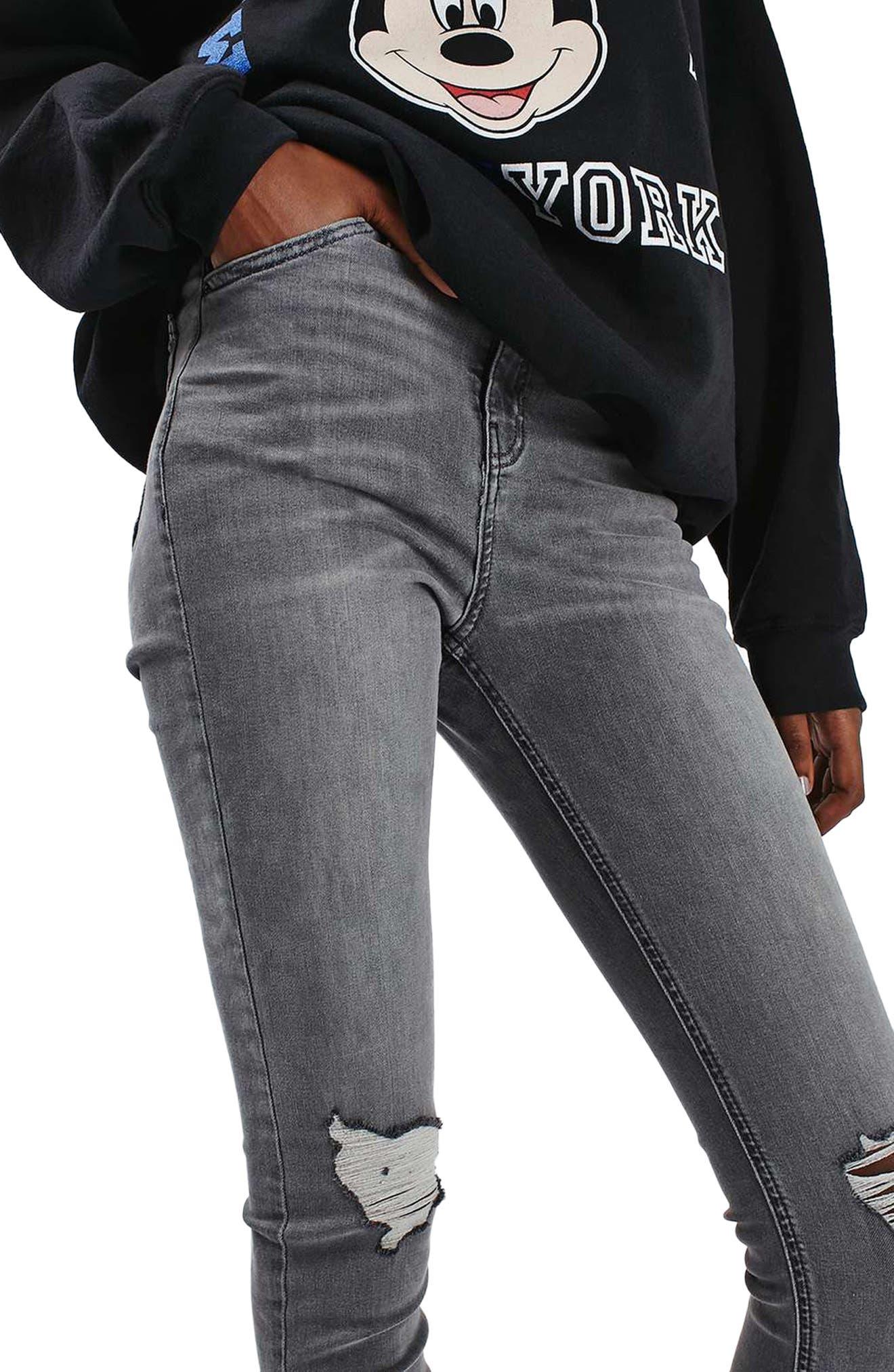 Alternate Image 6  - Topshop 'Jamie' Ripped Ankle Skinny Jeans (Regular & Tall)
