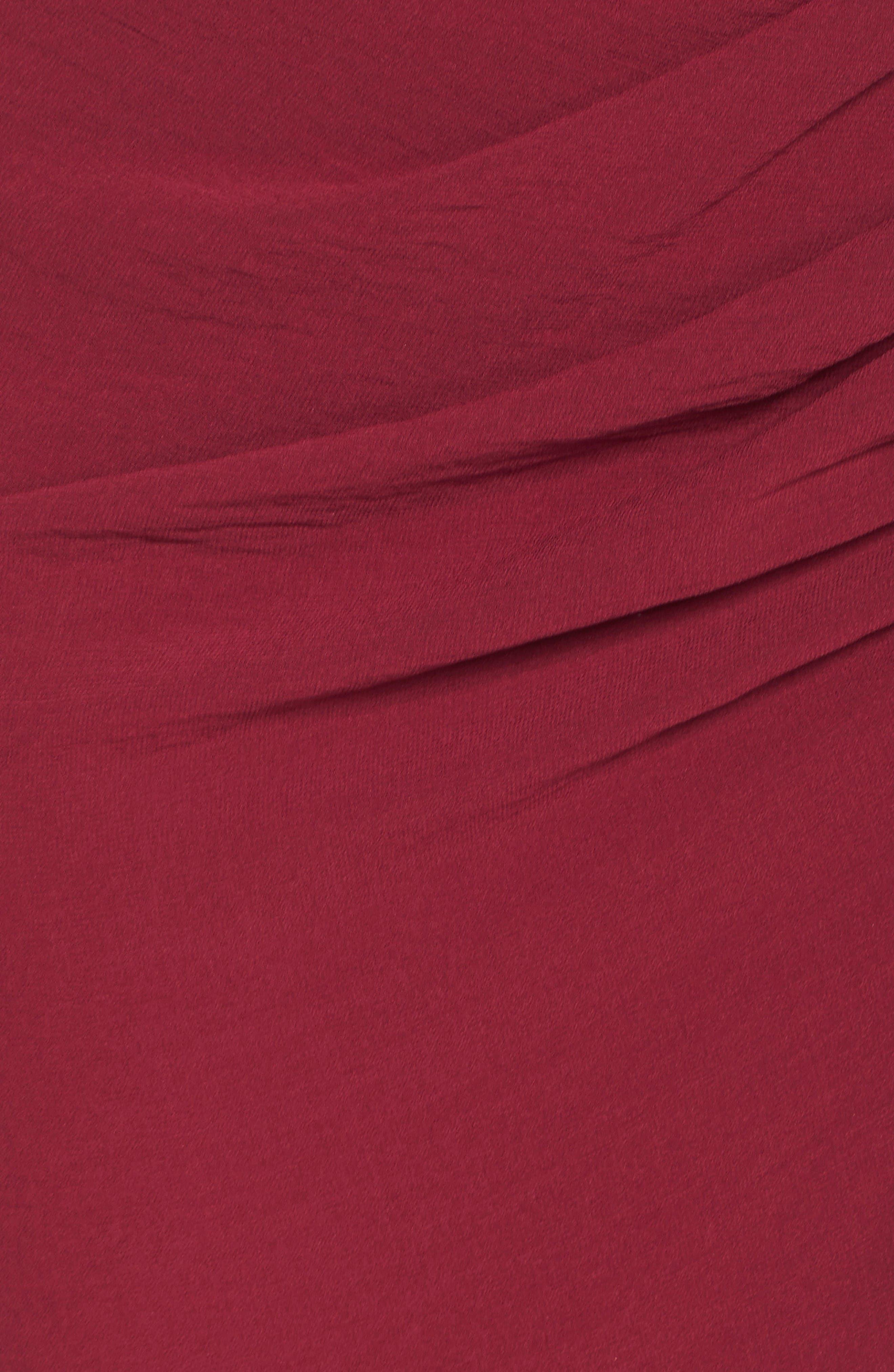Wrap Front Chiffon Gown,                             Alternate thumbnail 7, color,                             Bordeaux