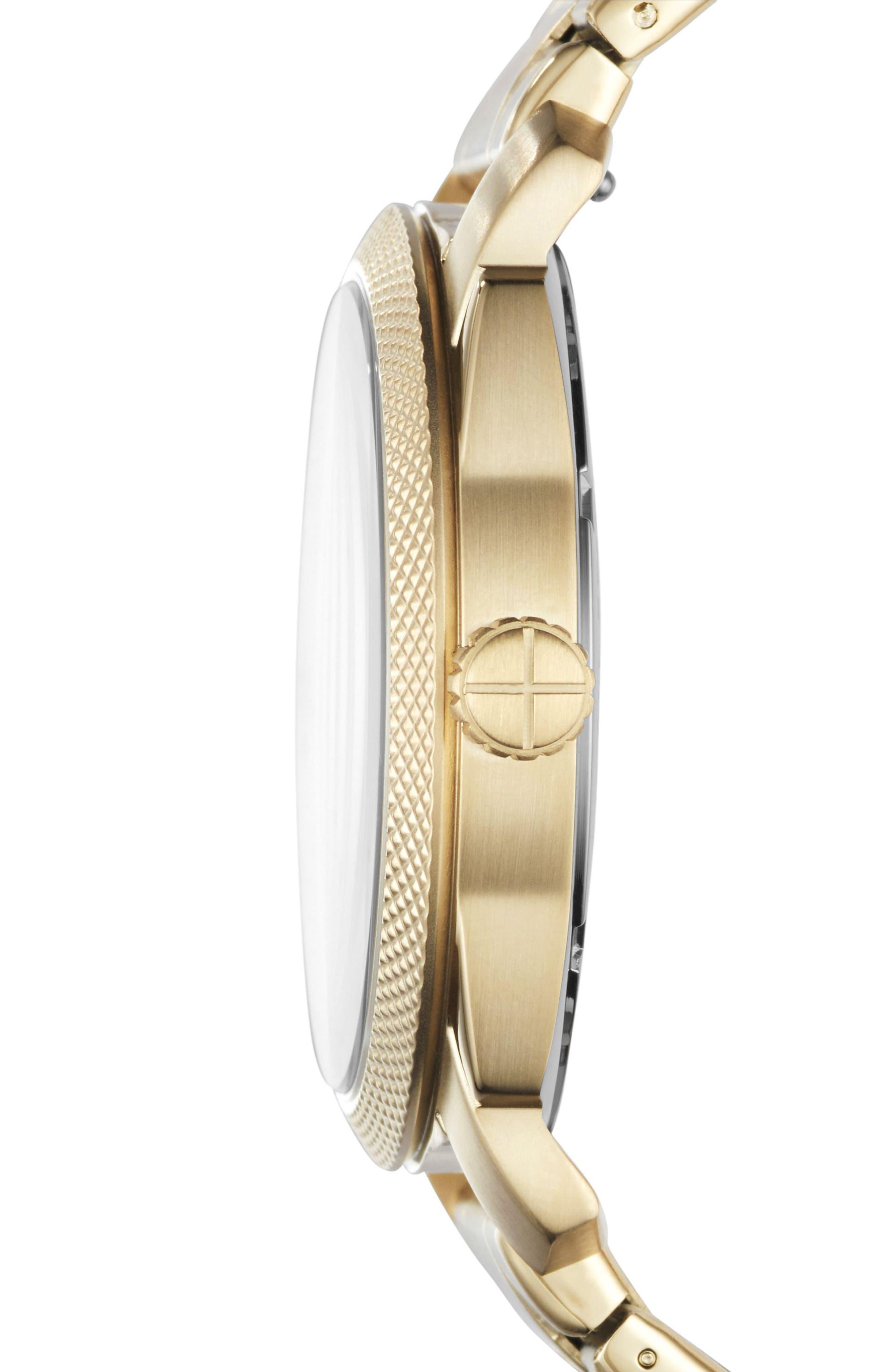 Machine Bracelet Watch, 42mm,                             Alternate thumbnail 2, color,                             Gold