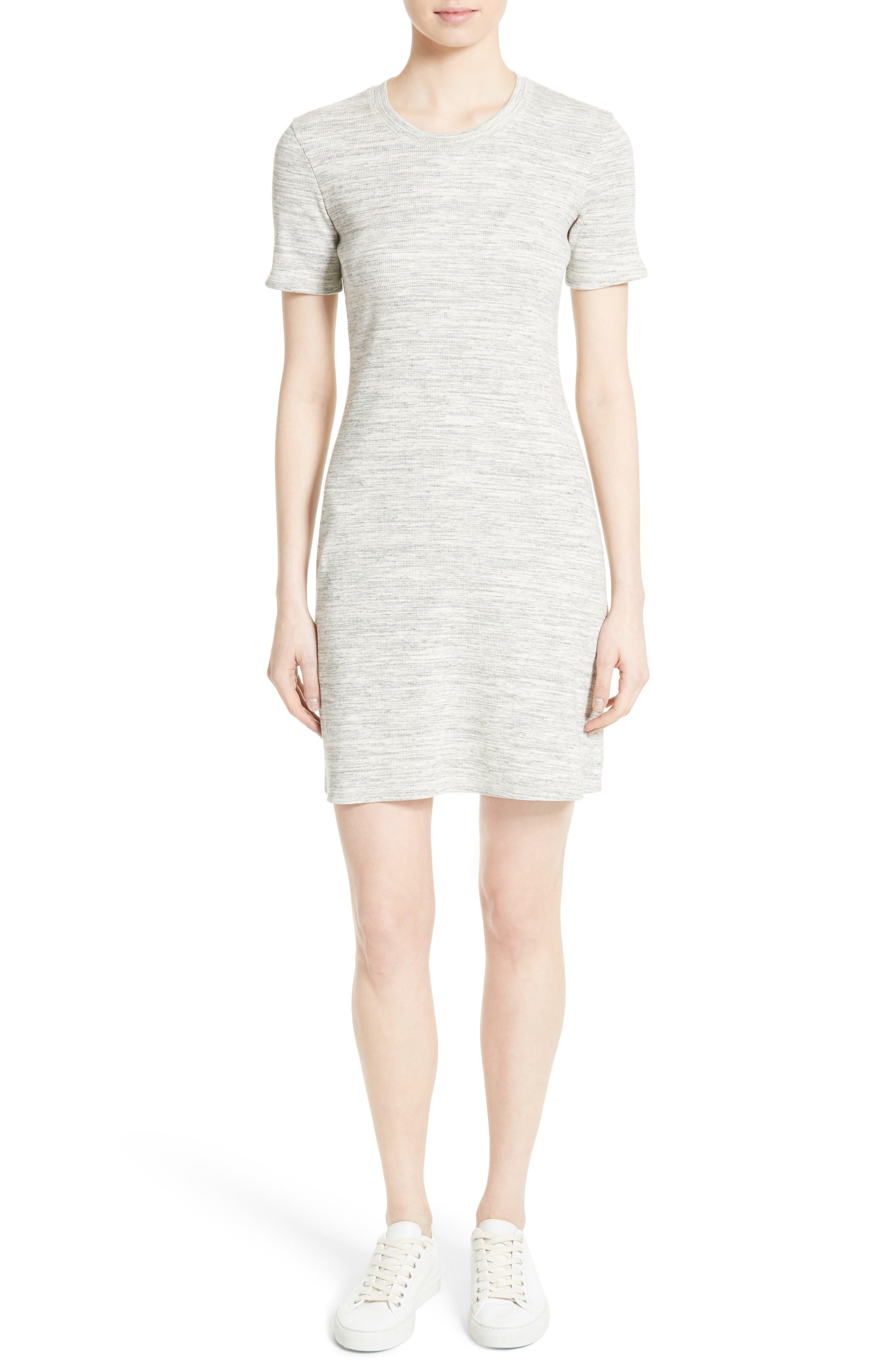 Main Image - Theory Cherry B3 Sterling Rib Knit T-Shirt Dress