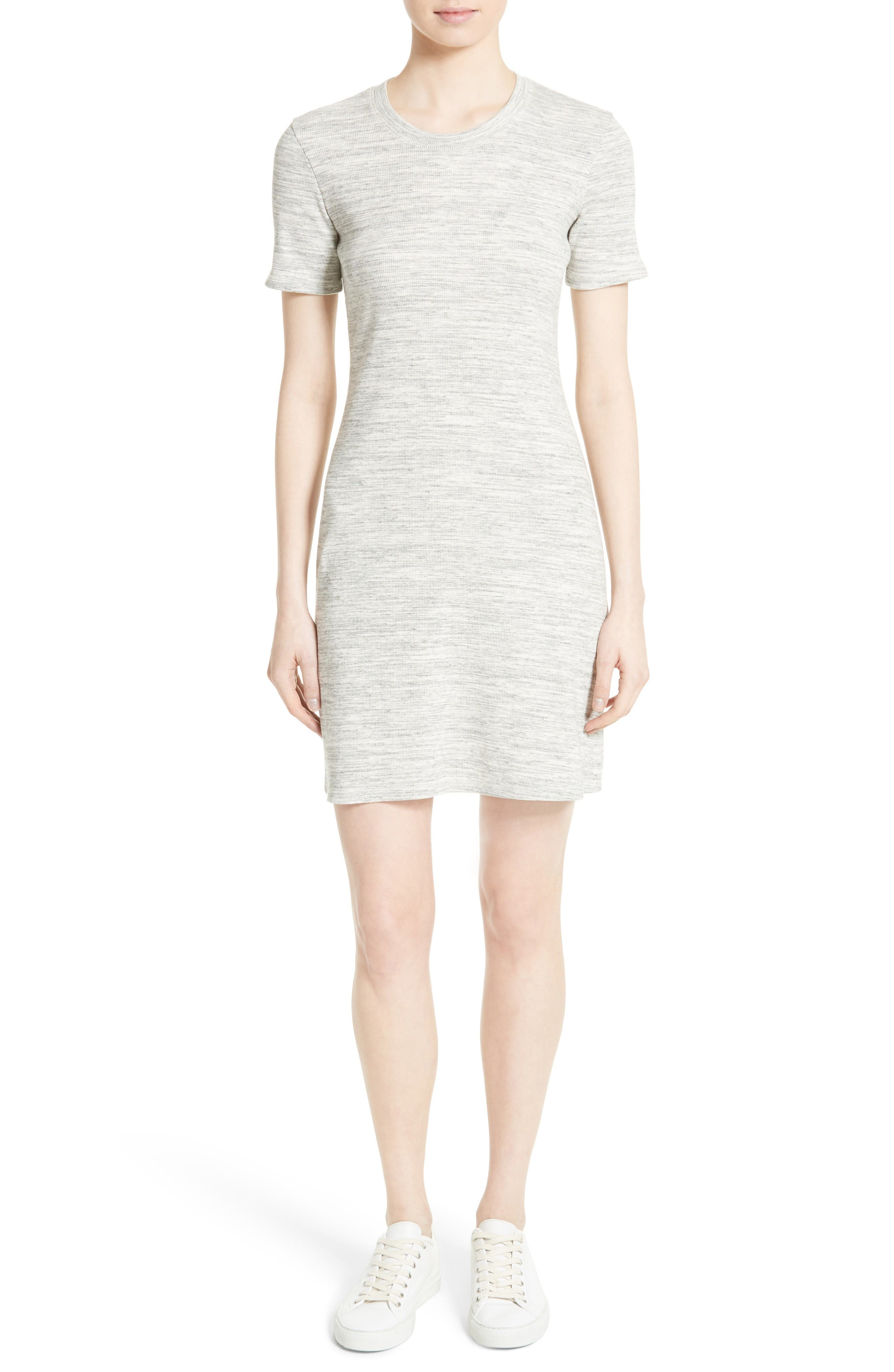 Theory Cherry B3 Sterling Rib Knit T-Shirt Dress