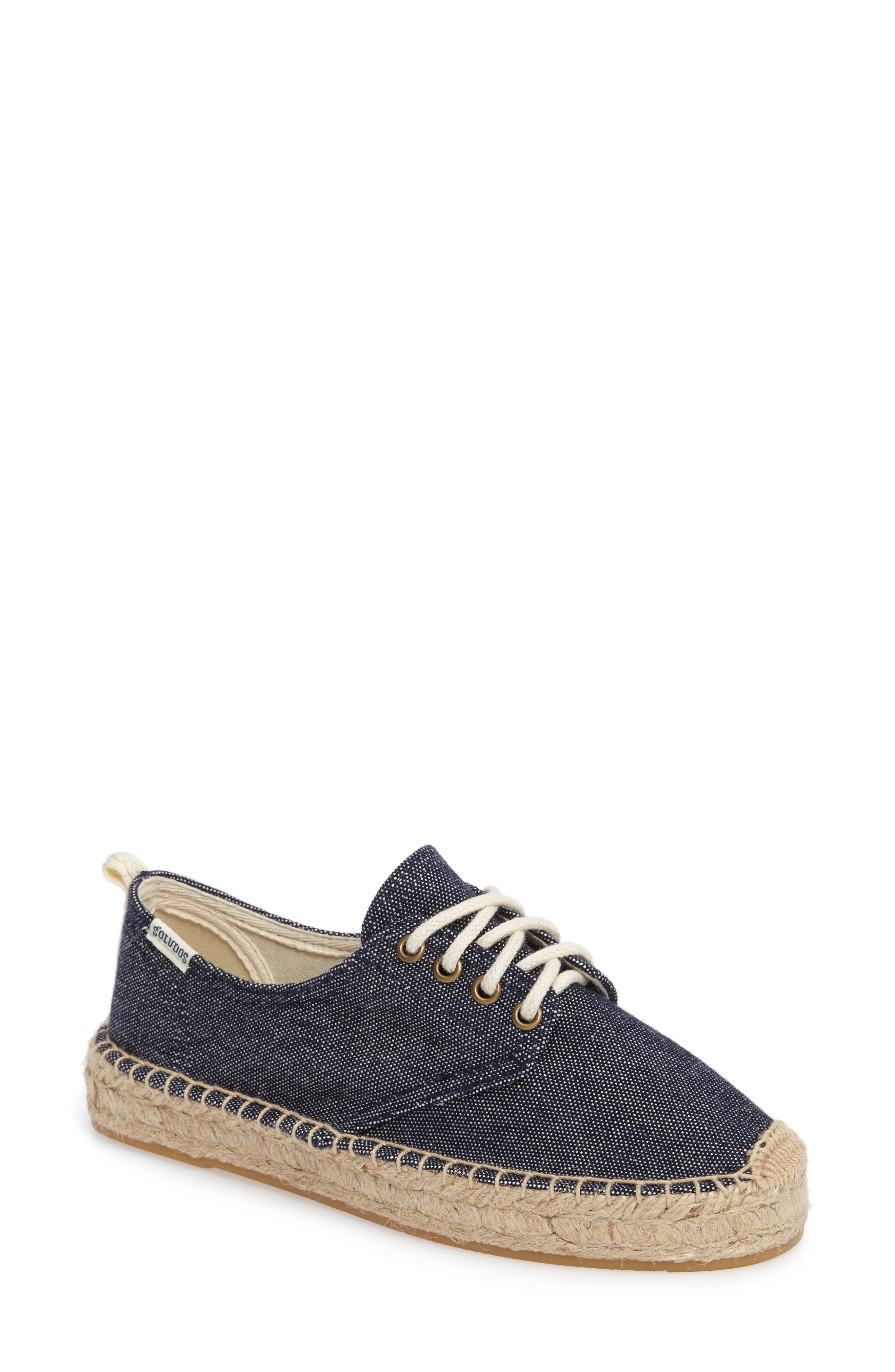 Espadrille Oxford,                             Main thumbnail 1, color,                             Navy Canvas