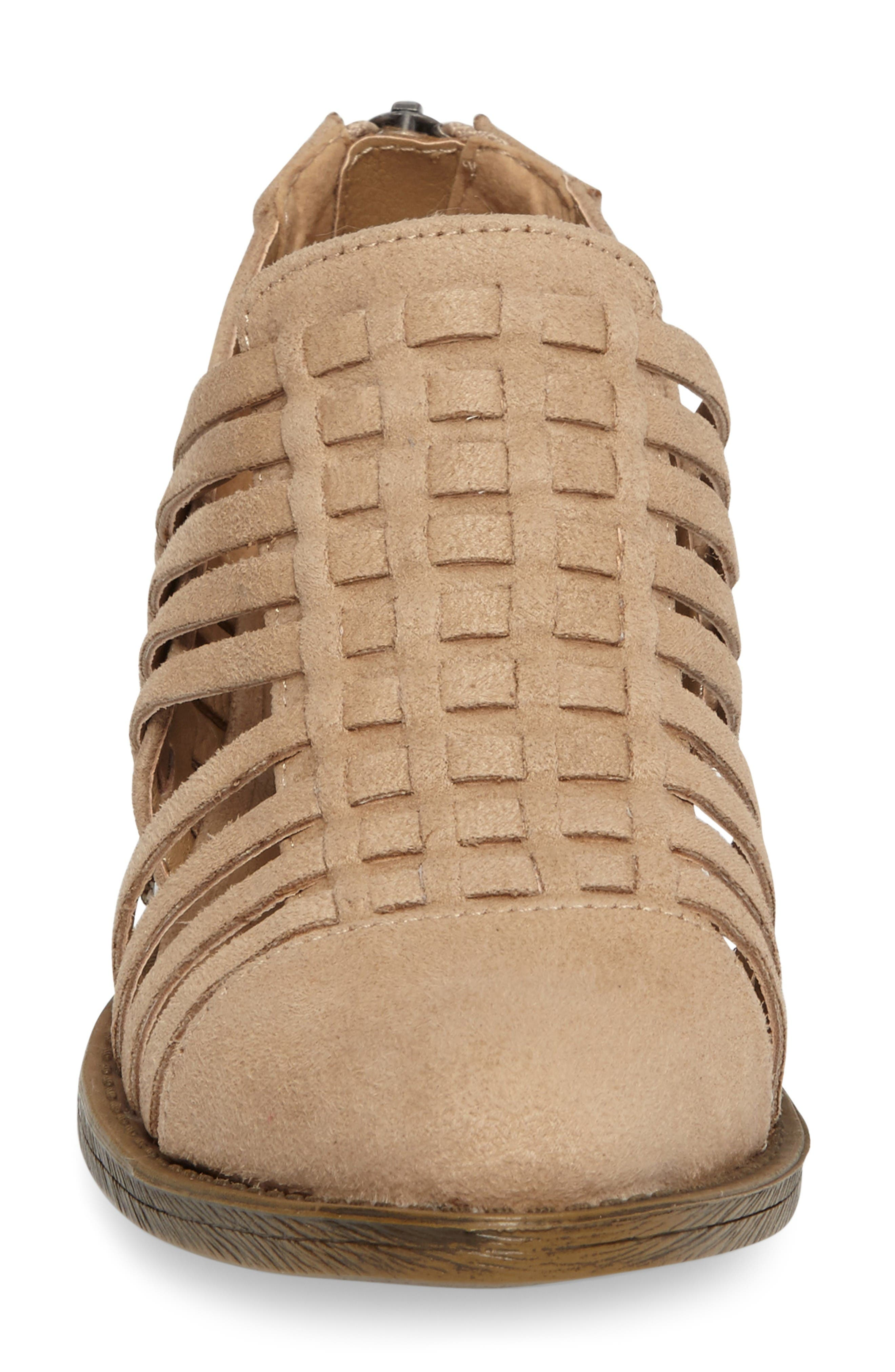 Coconuts by Matisse Woody Bootie,                             Alternate thumbnail 3, color,                             Natural Fabric