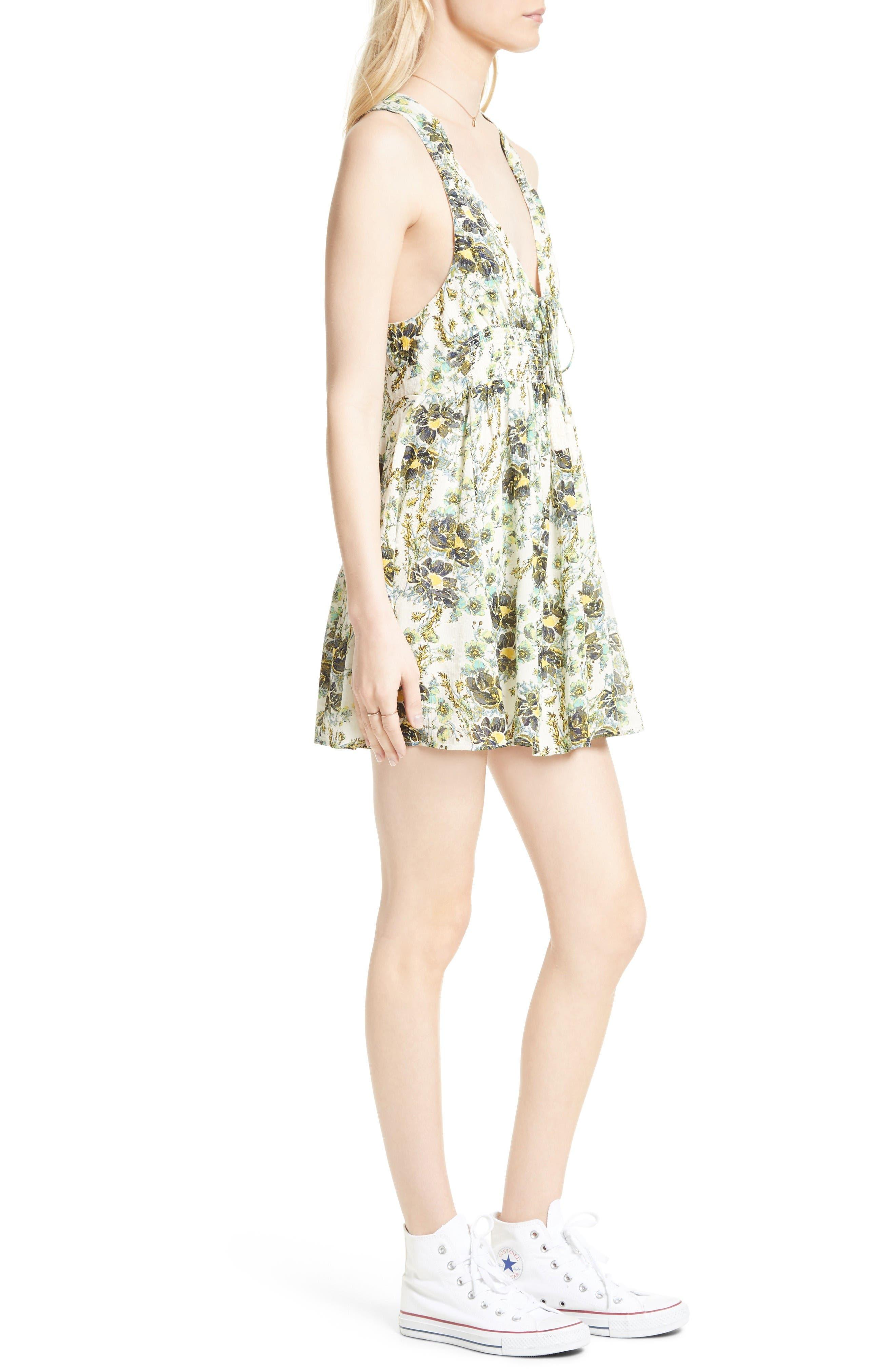 Alternate Image 3  - Free People Floral Print Minidress