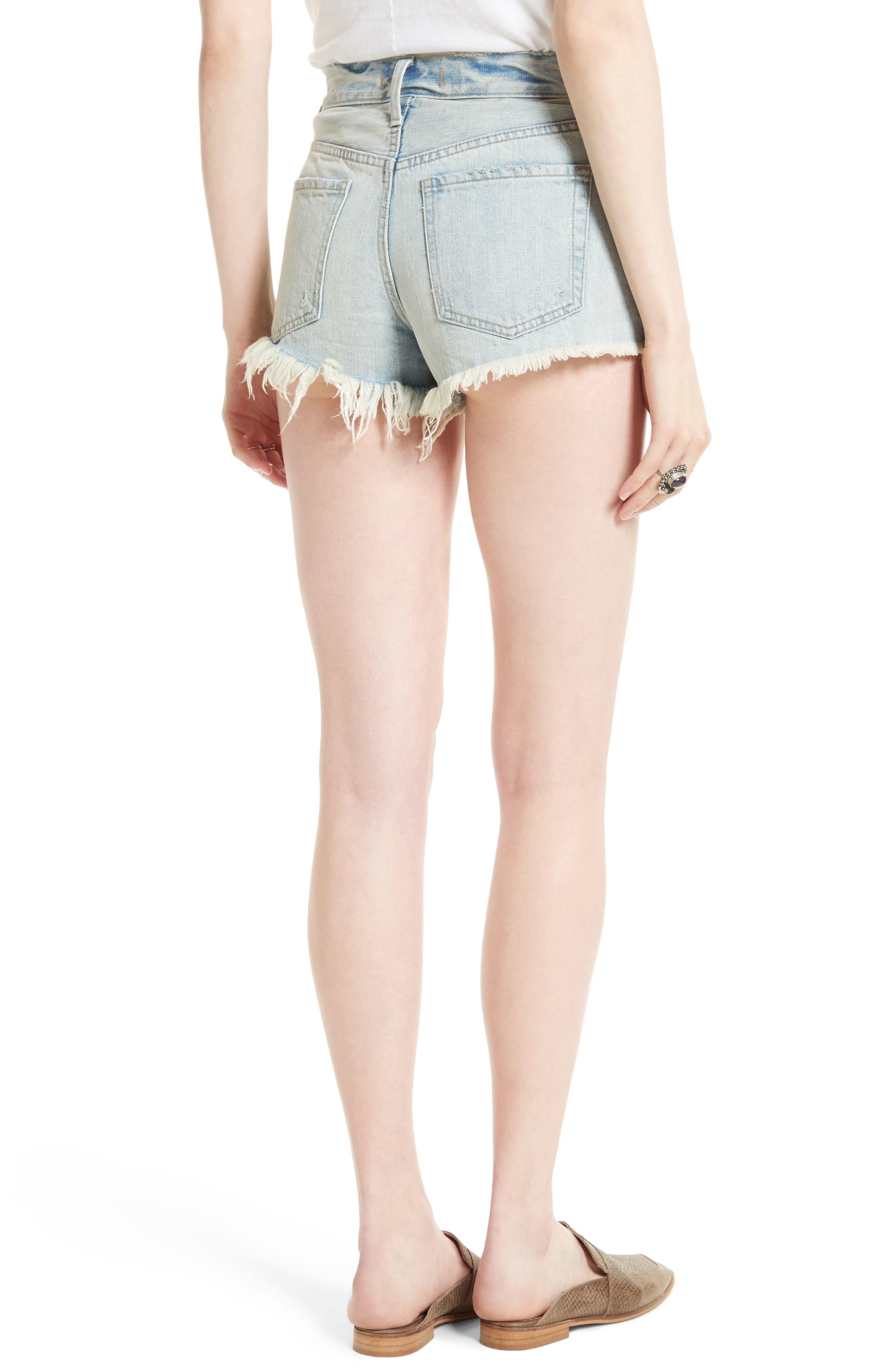 Alternate Image 3  - Free People Daisy Chain Cutoff Denim Shorts