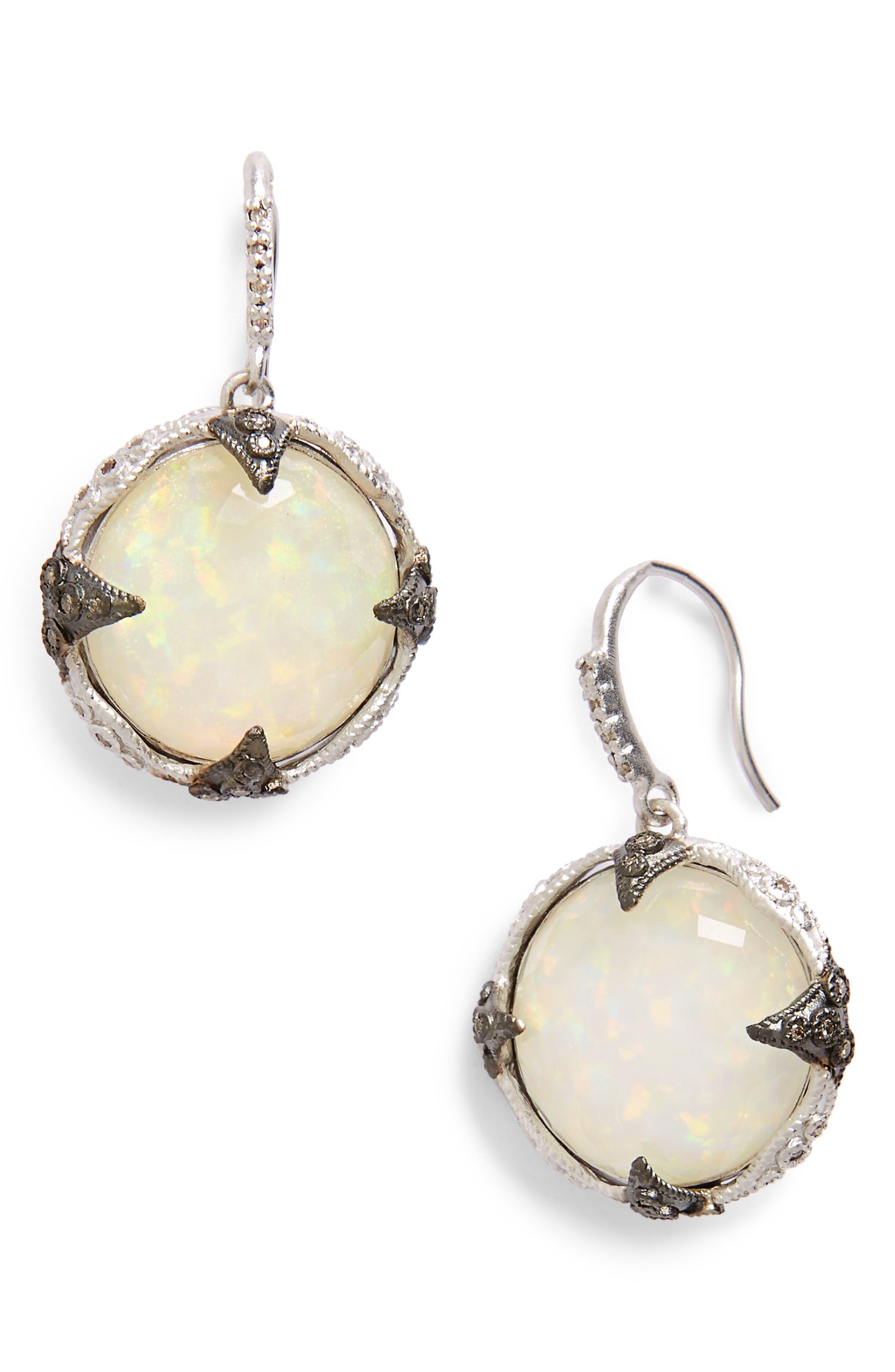 Armenta New World Opal & Diamond Drop Earrings
