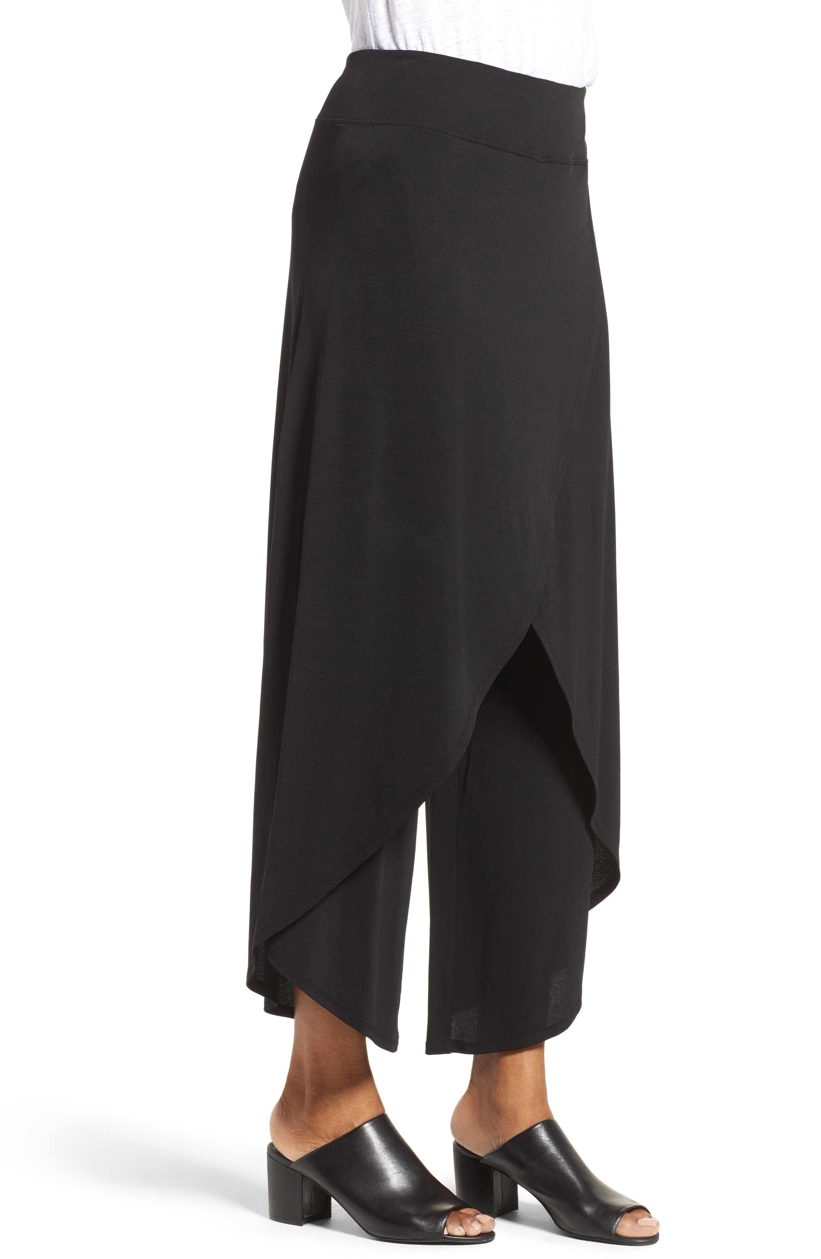 Alternate Image 4  - Eileen Fisher Silk Cross Front Wide Leg Pants