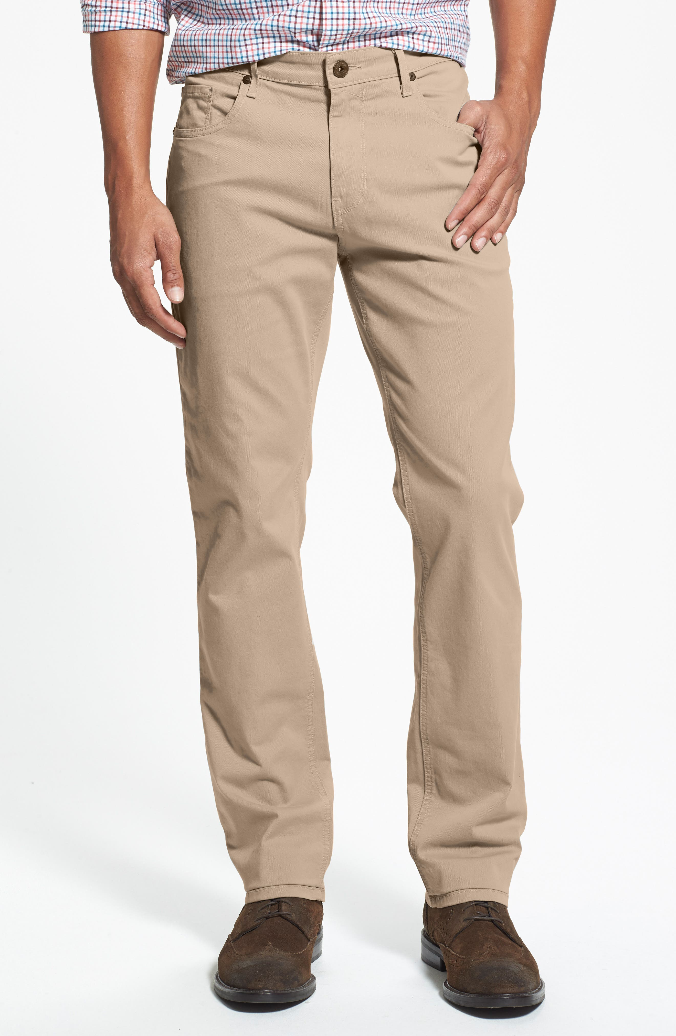 Normandie Slim Straight Leg Twill Pants,                             Main thumbnail 1, color,                             Timberwolf