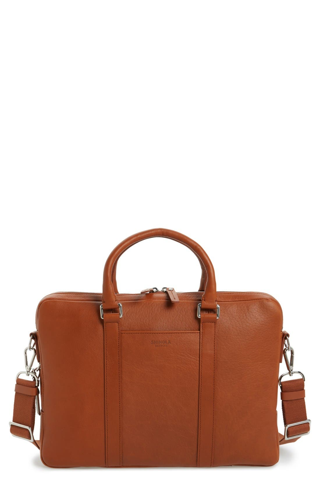 SHINOLA Signature Leather Briefcase