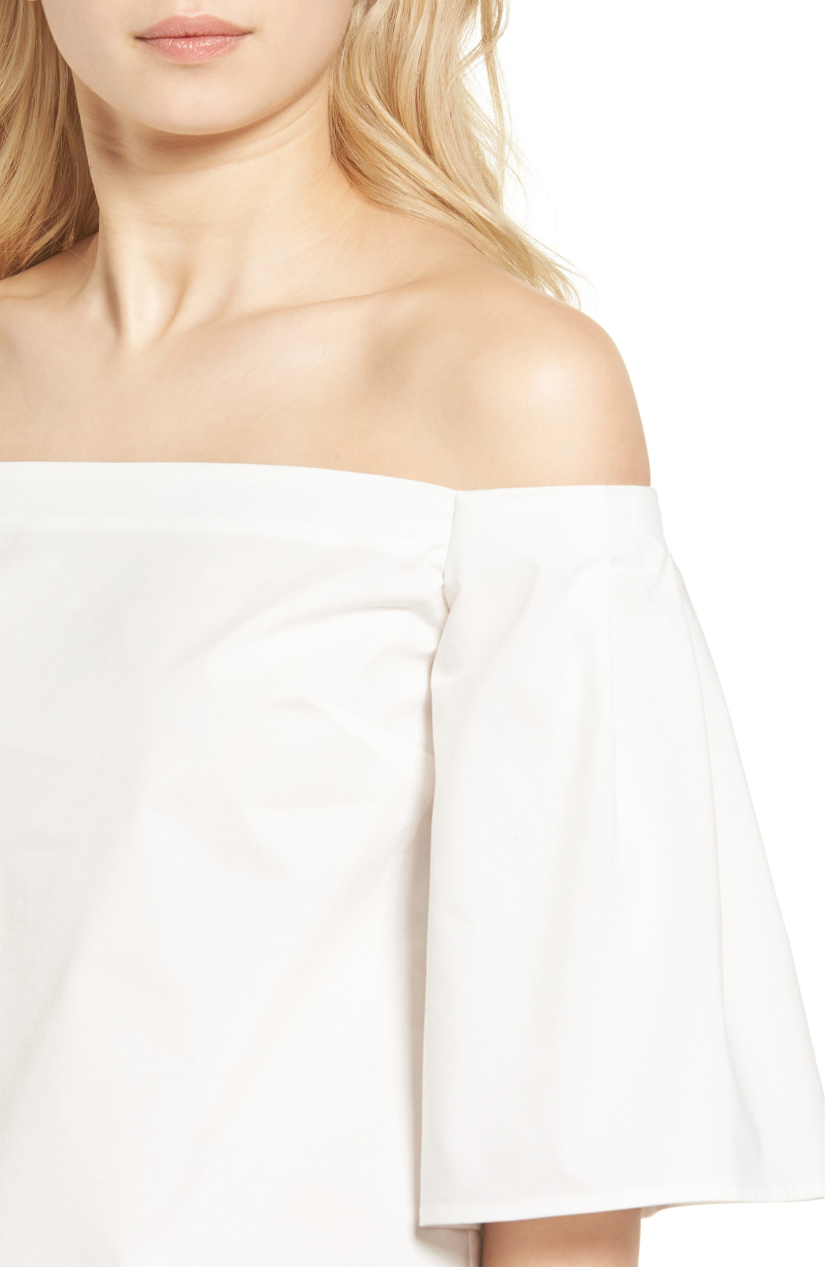 Alternate Image 4  - Trouvé Off the Shoulder Poplin Top