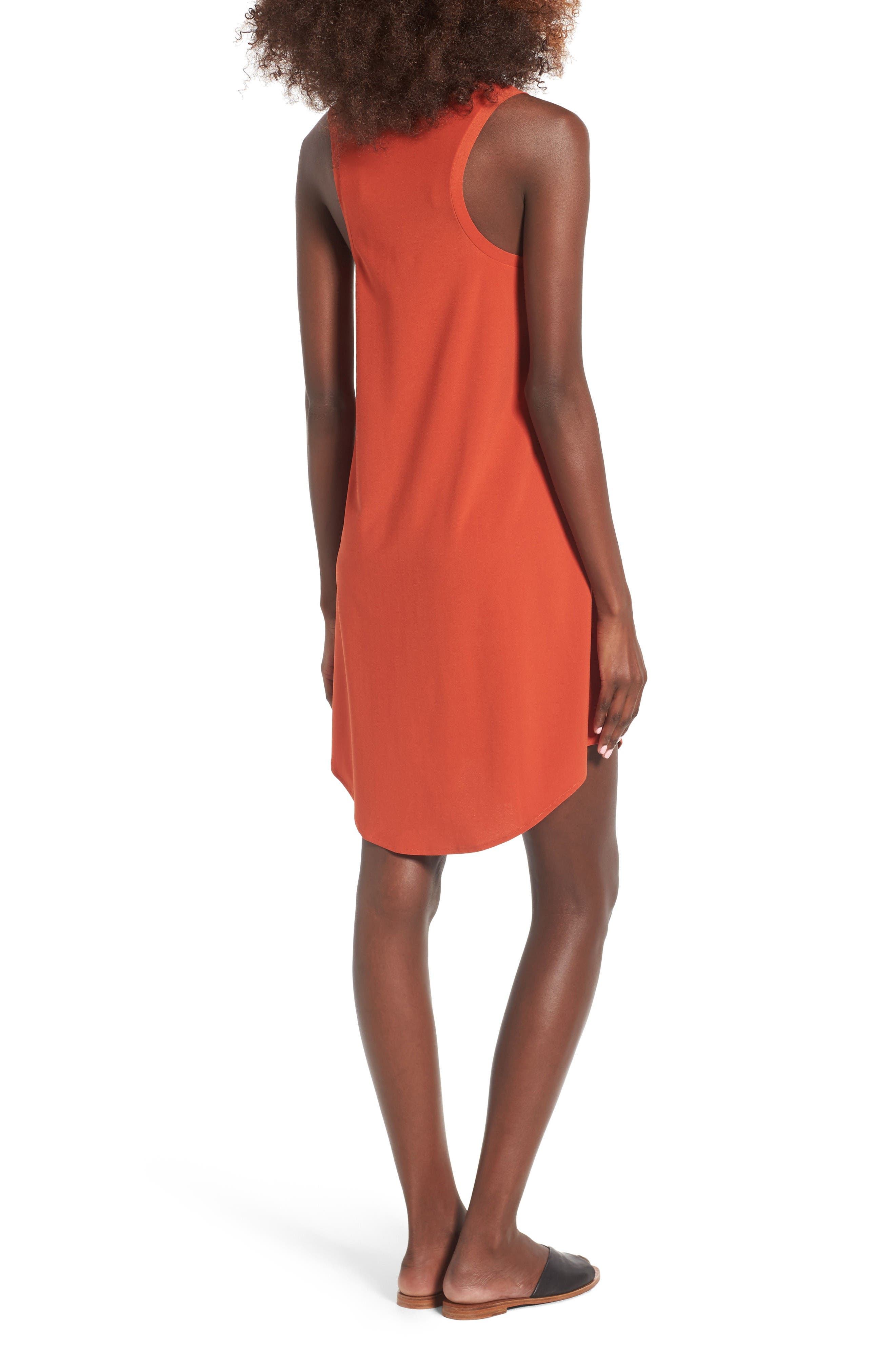 Tank Dress,                             Alternate thumbnail 2, color,                             Red Persimmon