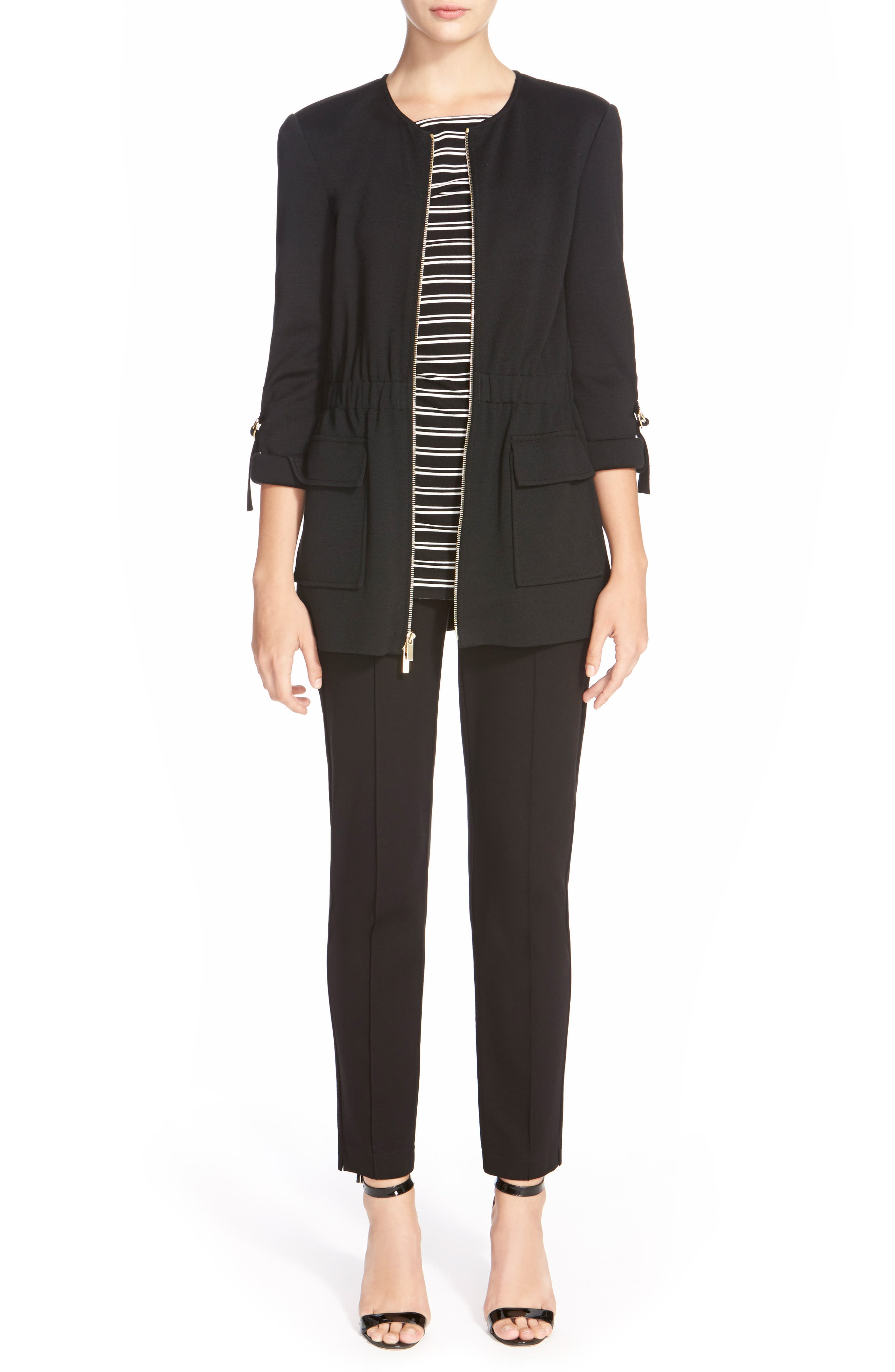Alternate Image 7  - St. John Collection Ponte Knit Ankle Pants