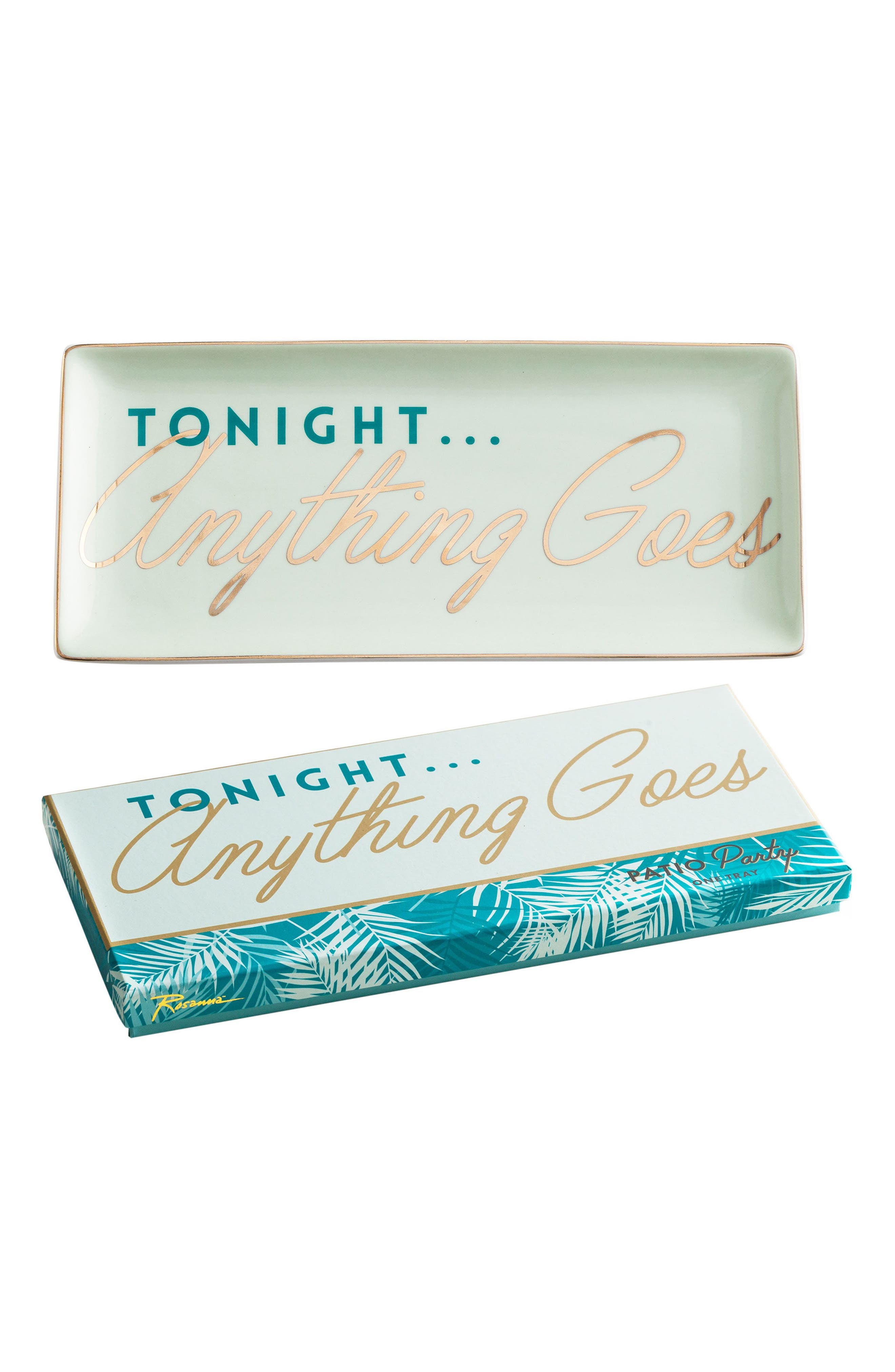 Anything Goes Porcelain Trinket Tray,                             Main thumbnail 1, color,                             White