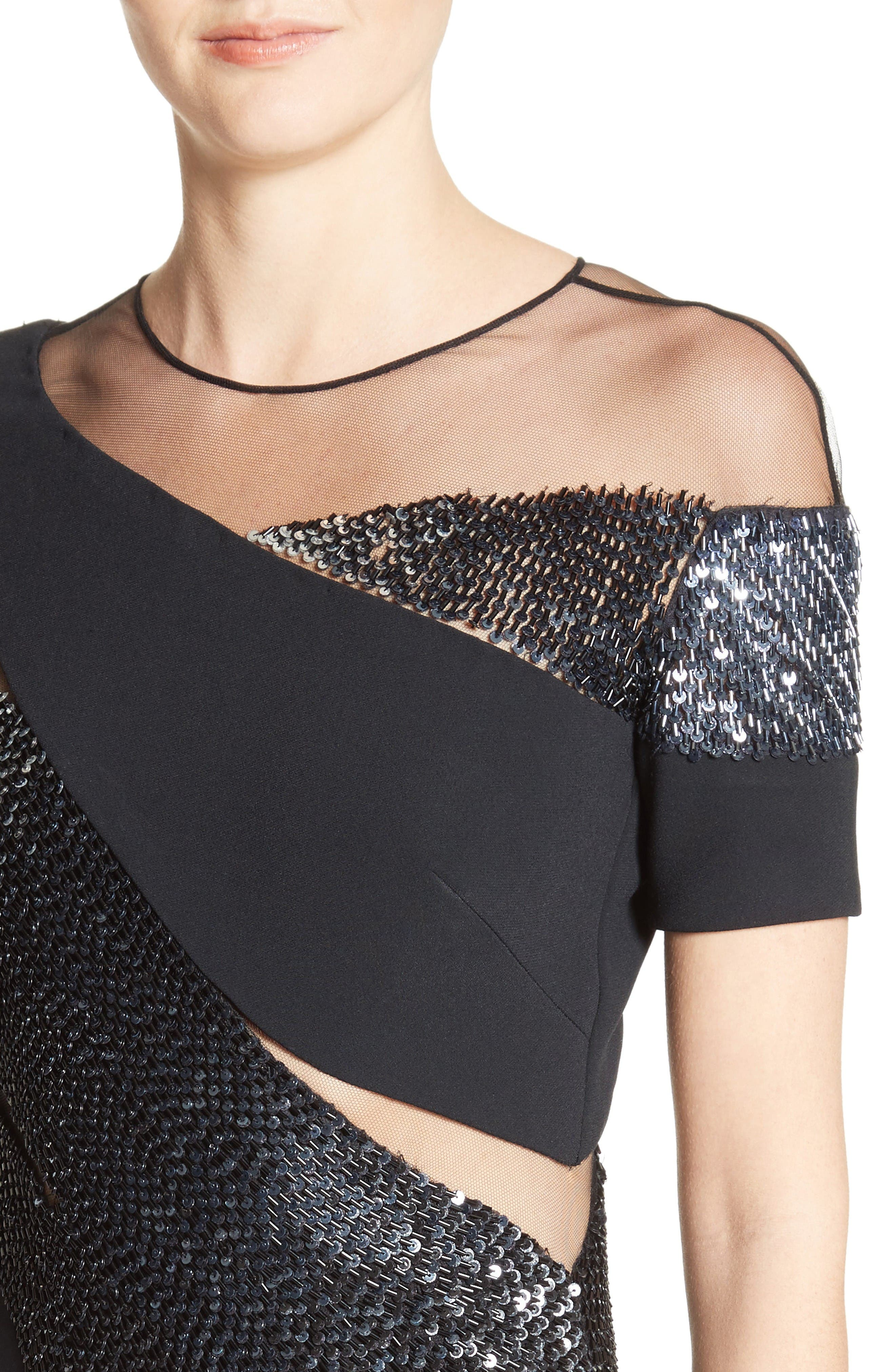Alternate Image 5  - Pamella Roland Sequined Silk Gown