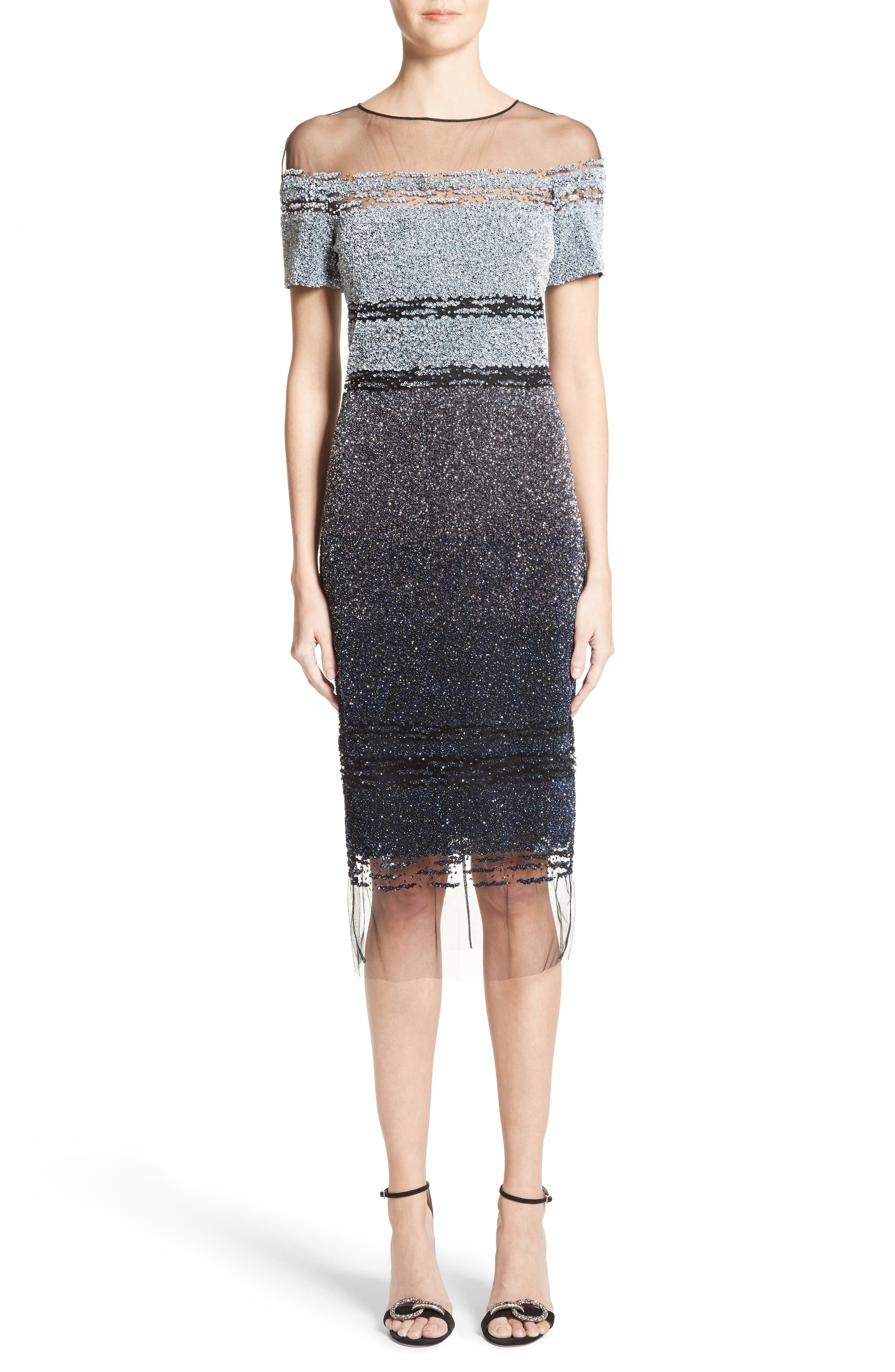 Alternate Image 1 Selected - Pamella Roland Signature Sequin Cocktail Dress