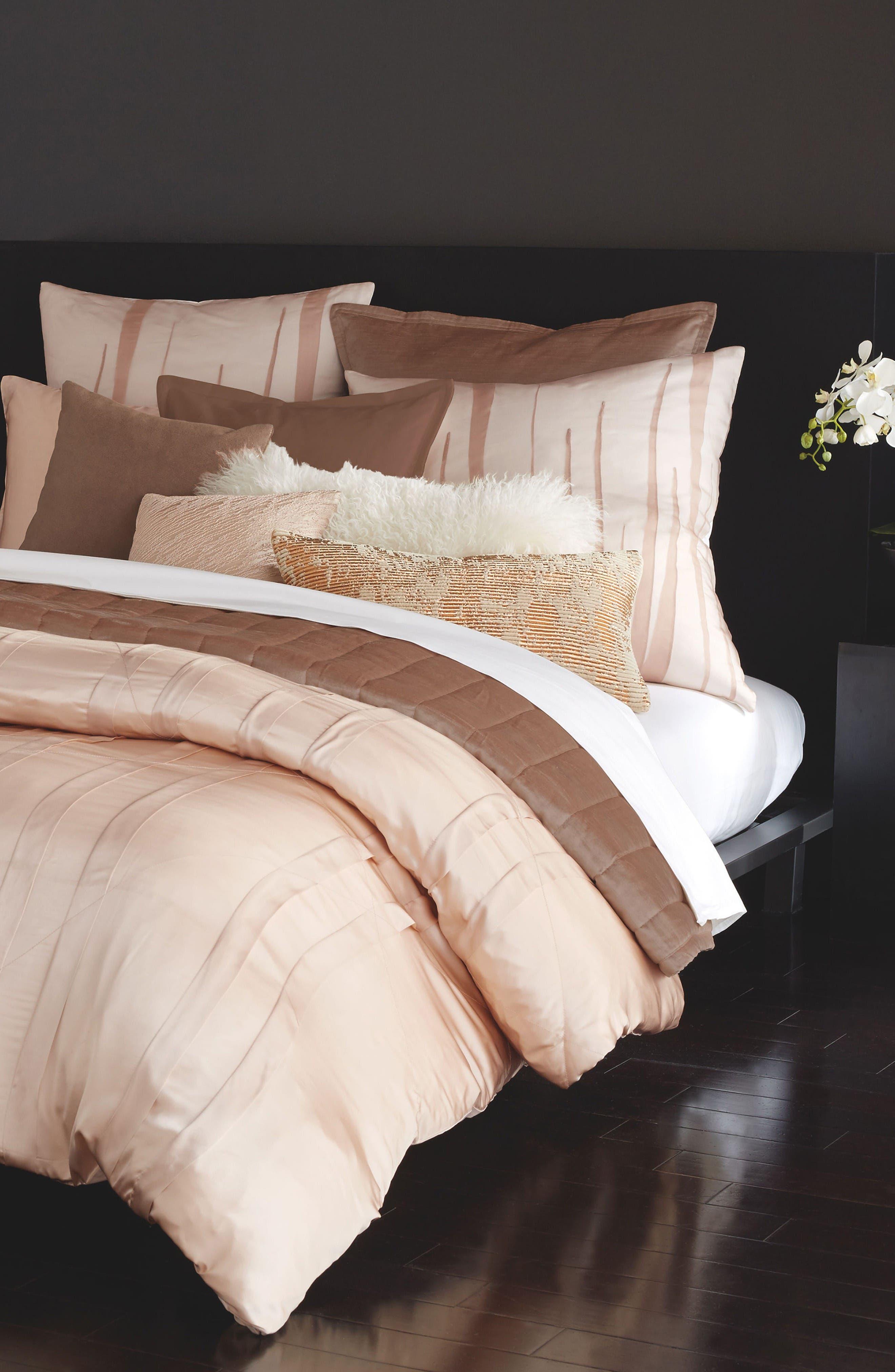 Donna Karan Homoe Collection Awakening Velvet Accent Pillow,                             Alternate thumbnail 2, color,                             Blush