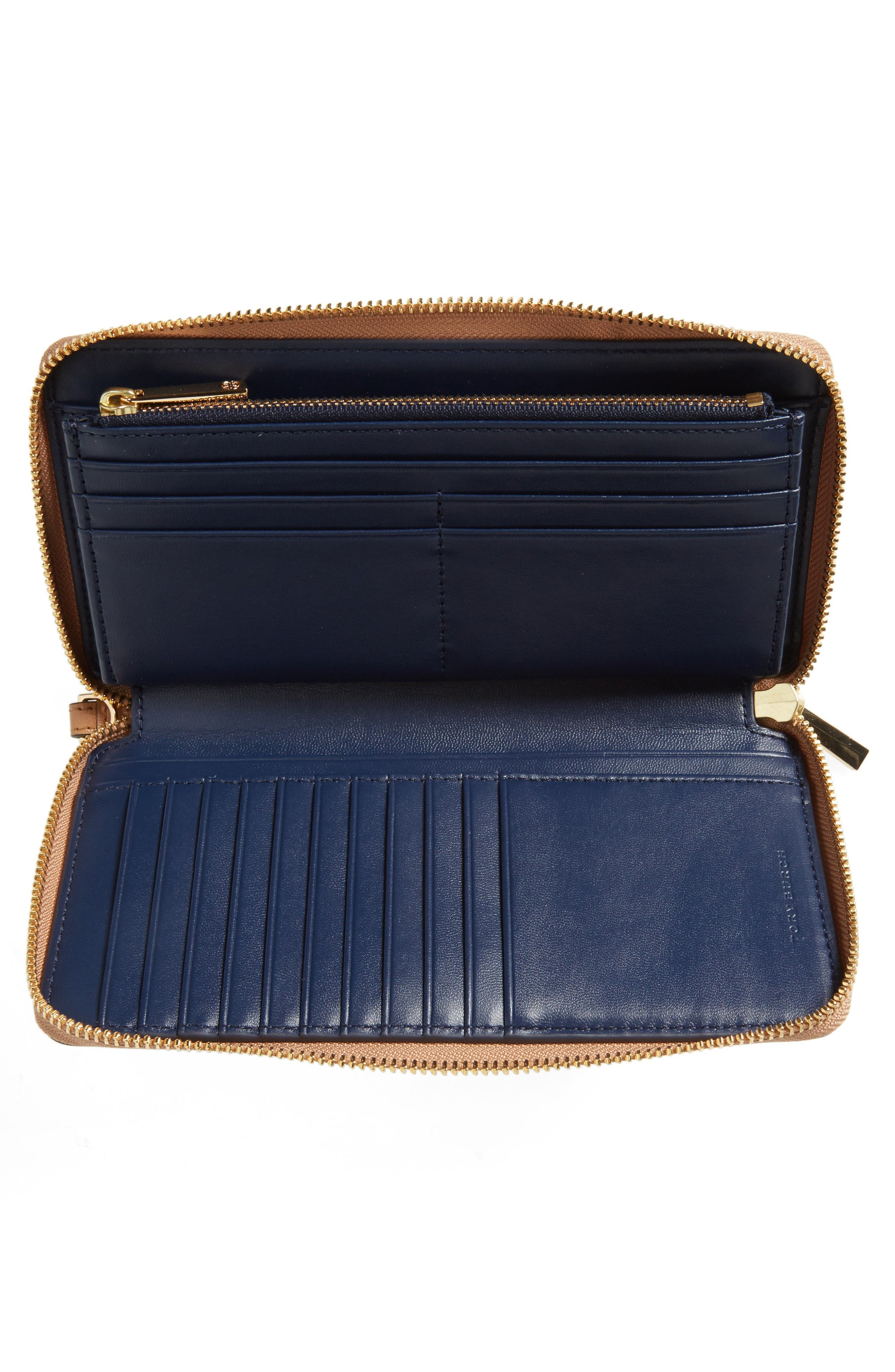 Alternate Image 2  - Tory Burch Parker Leather Continental Wallet