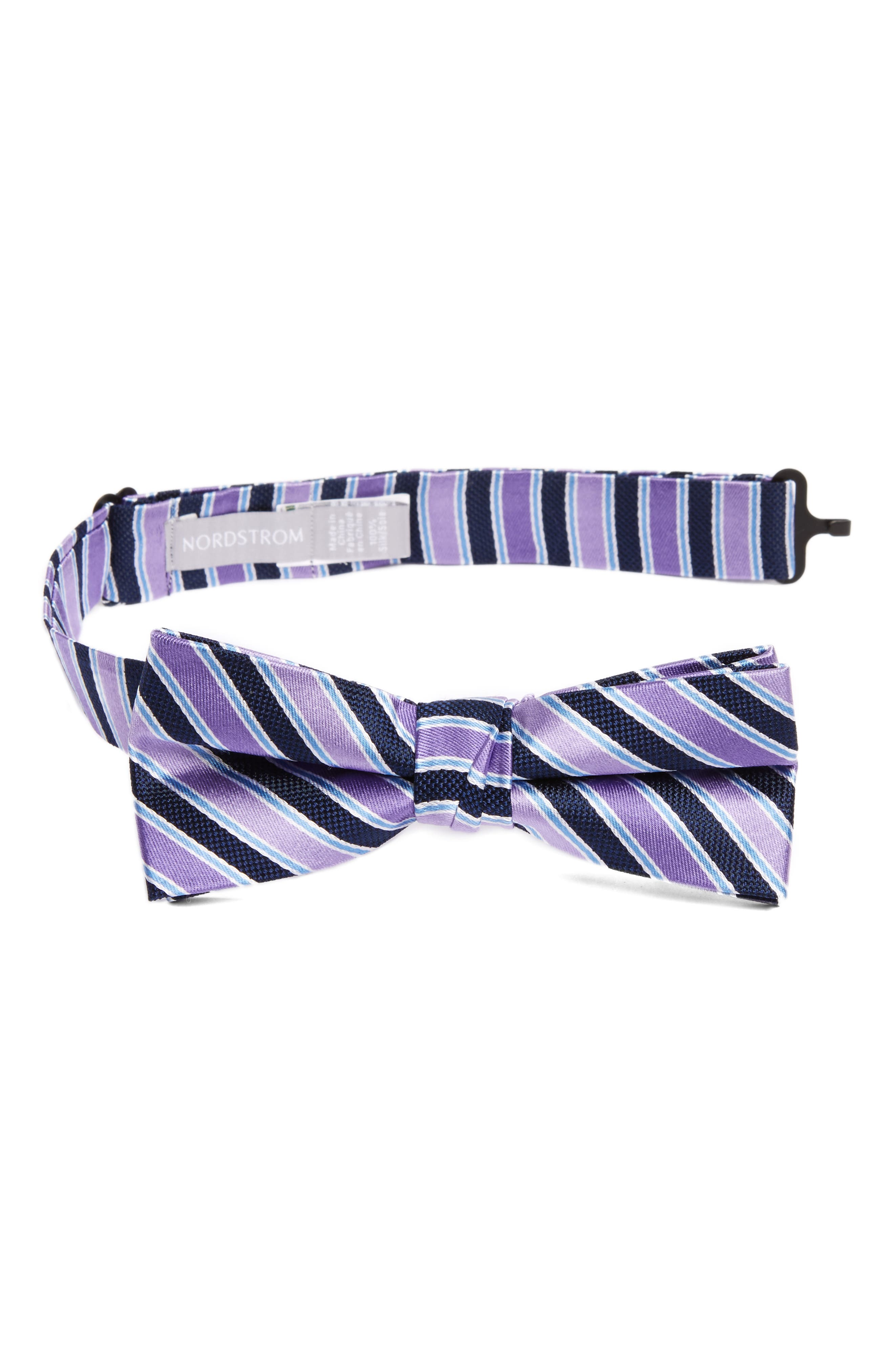 Nordstrom Stripe Silk Bow Tie (Big Boys)