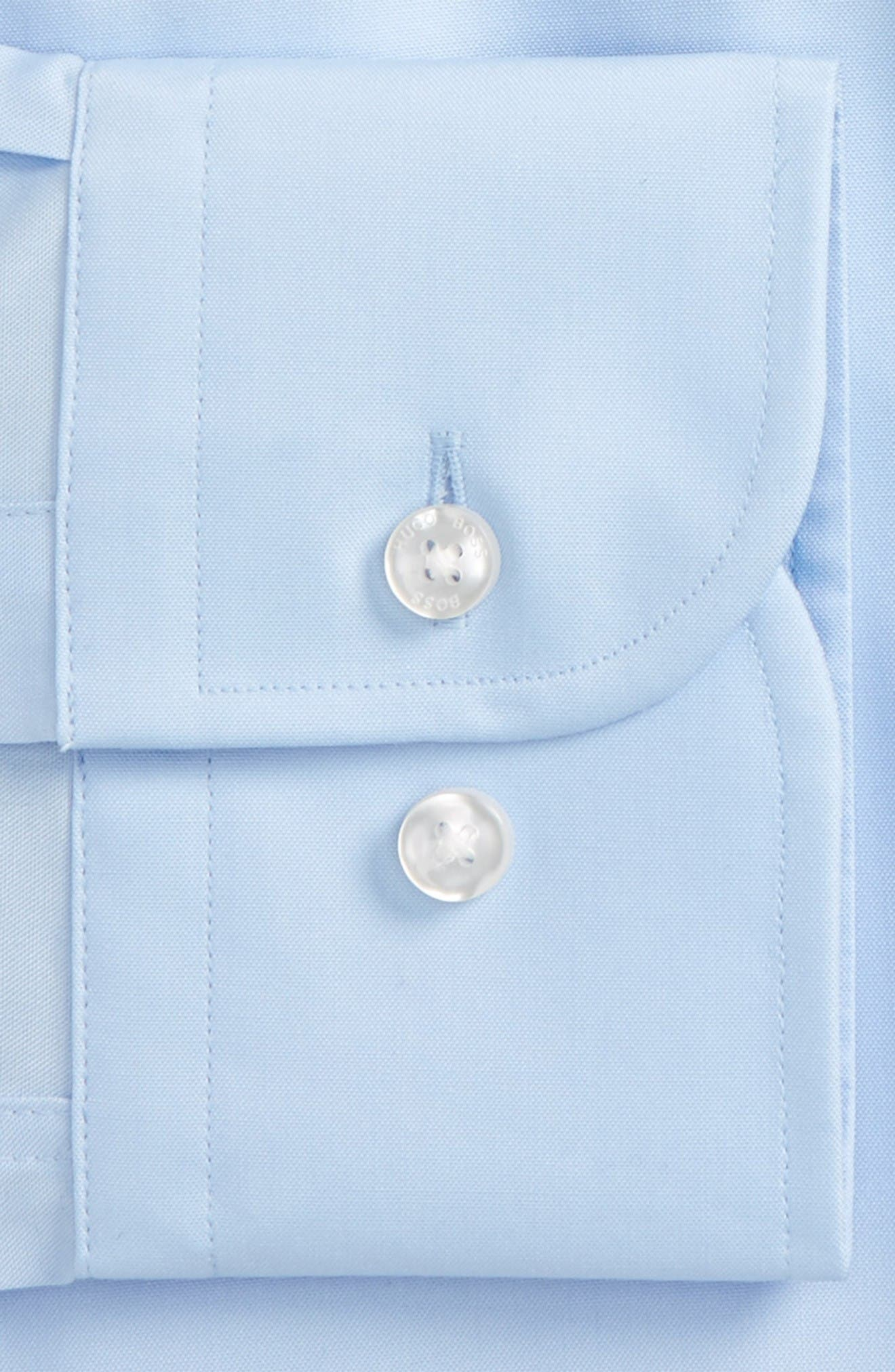 Slim Fit Easy Iron Solid Dress Shirt,                             Alternate thumbnail 2, color,                             Light Pastel Blue