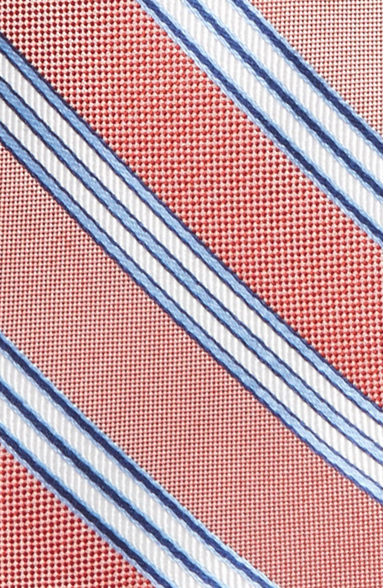 Stripe Silk Tie,                             Alternate thumbnail 2, color,                             Red Stripe
