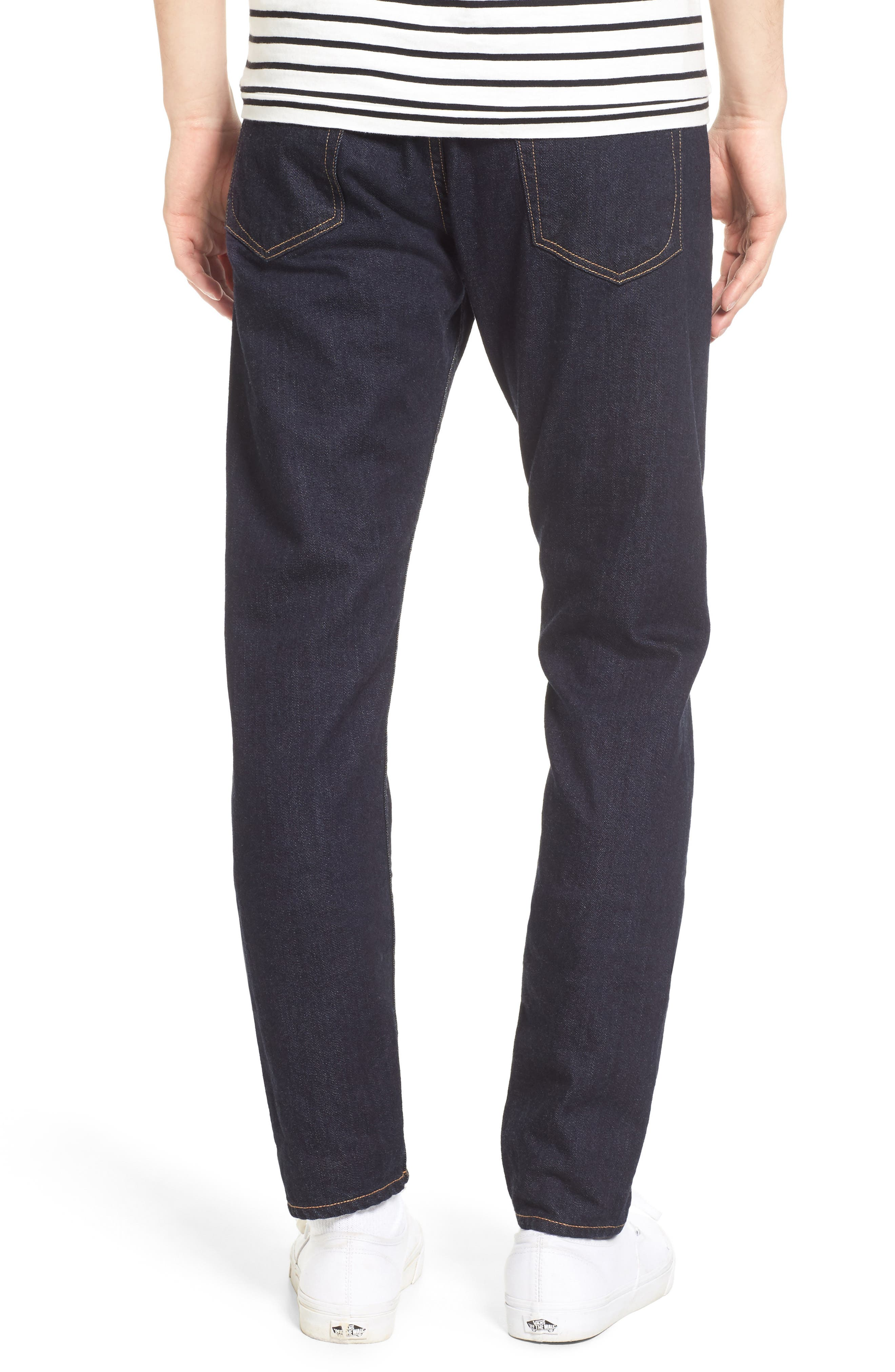 Standard Issue Fit 1 Skinny Fit Jeans,                             Alternate thumbnail 2, color,                             Rinse Selvage