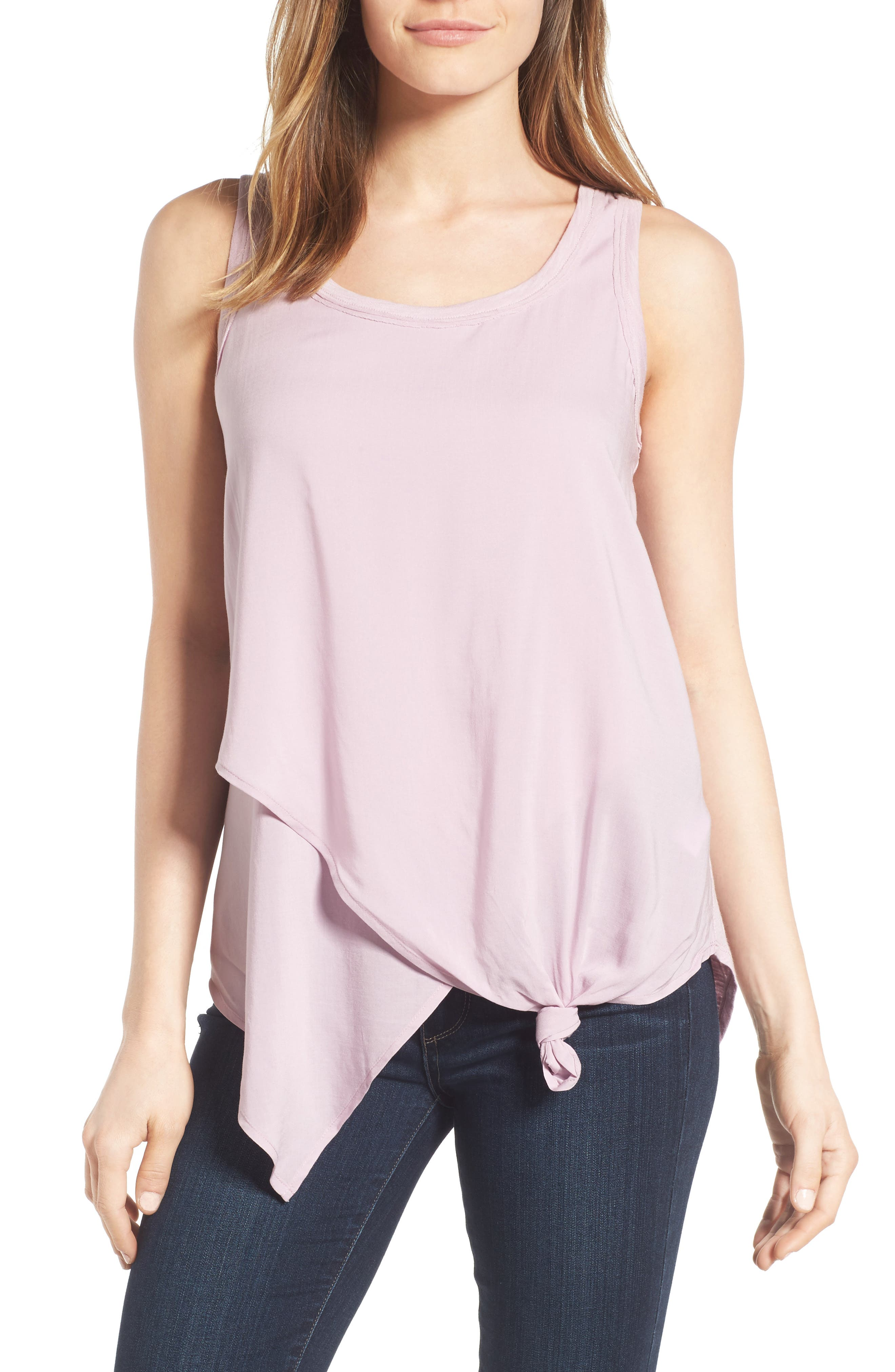 Wit & Wisdom Knotted Asymmetrical Tank (Nordstrom Exclusive)
