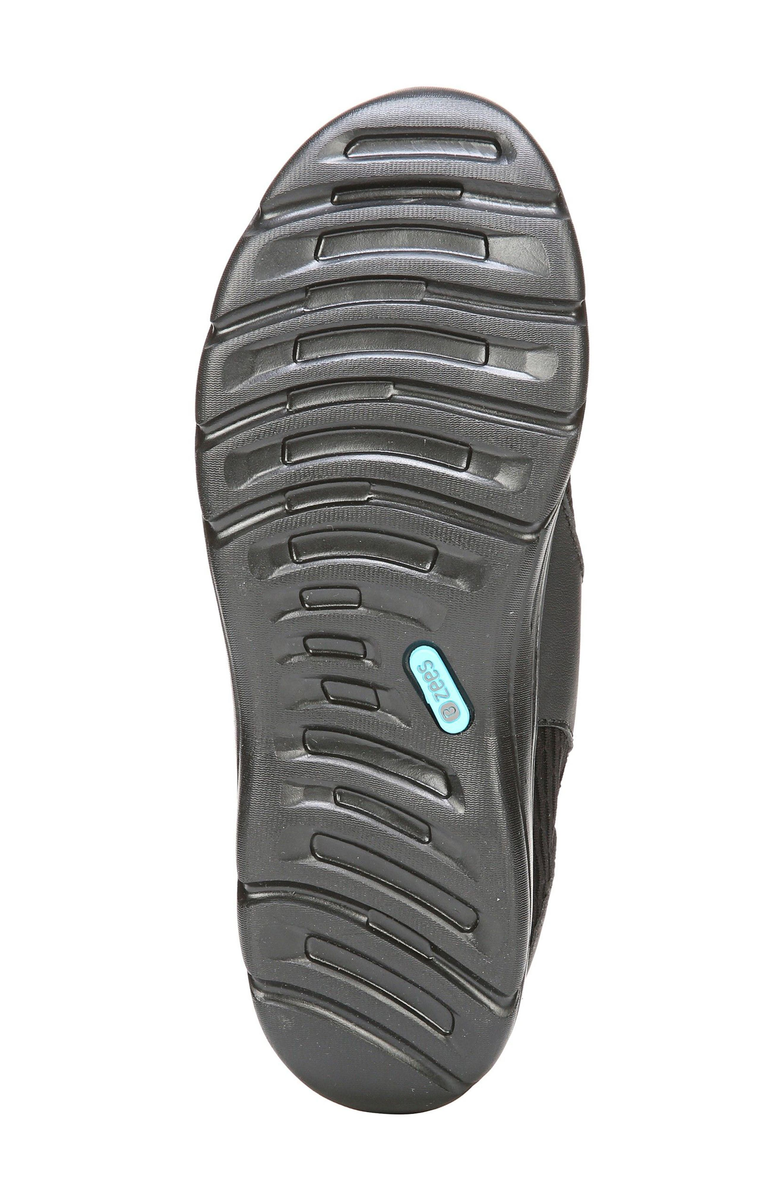 Balance Sneaker,                             Alternate thumbnail 4, color,                             Black Oval Fabric
