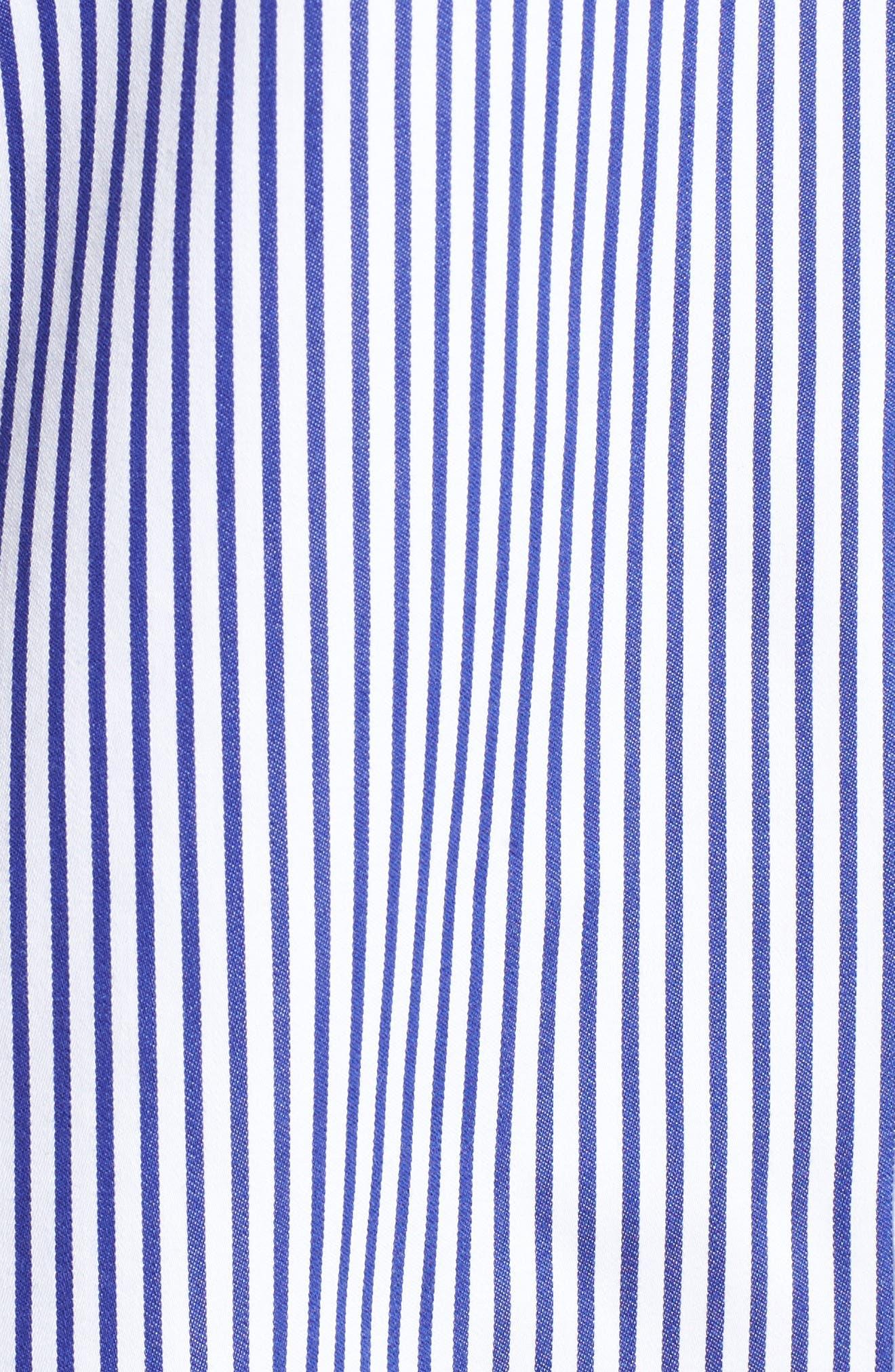 Mini Stripe Non-Iron Tunic Shirt,                             Alternate thumbnail 5, color,                             Blue Lagoon