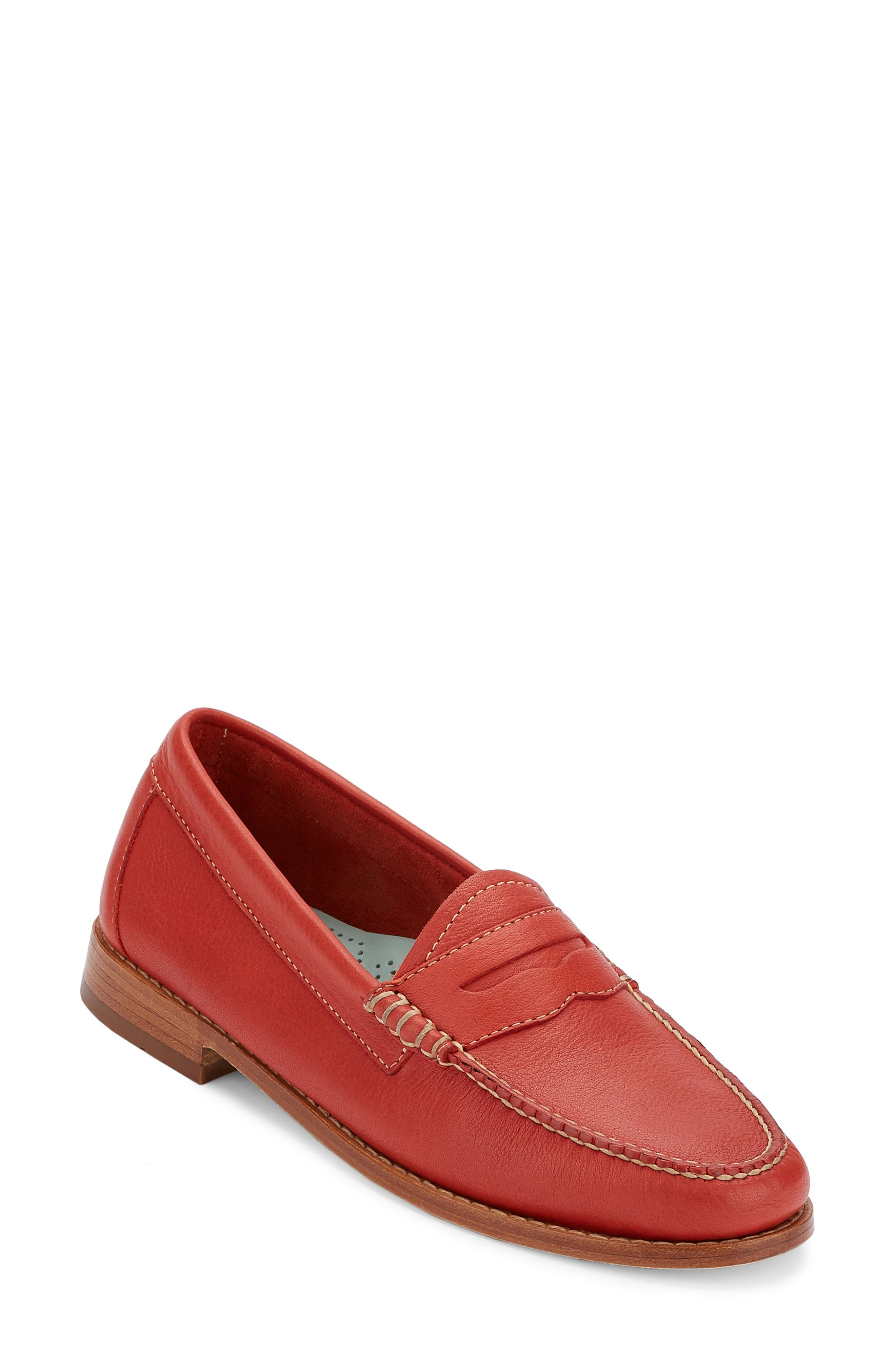 'Whitney' Loafer,                             Main thumbnail 1, color,                             Poppy Leather
