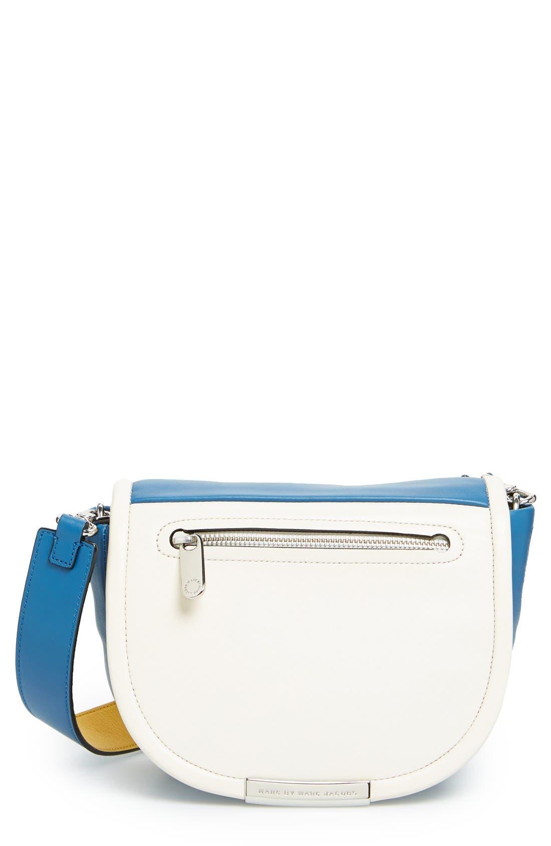 MARC BY MARC JACOBS 'Luna' Crossbody Bag,                         Main,                         color, Bluestone Multi