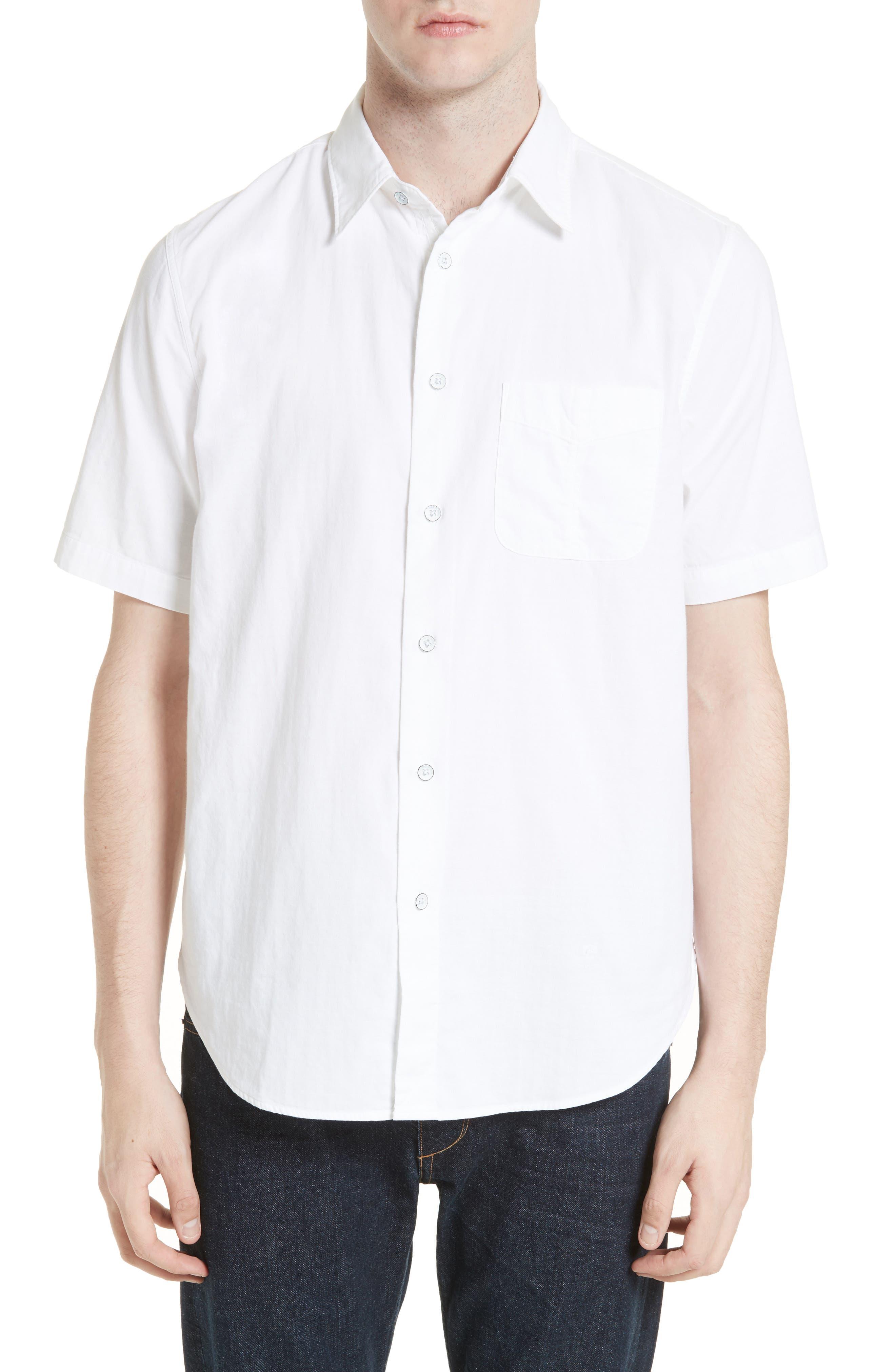Standard Issue Beach Trim Fit Sport Shirt,                         Main,                         color, White