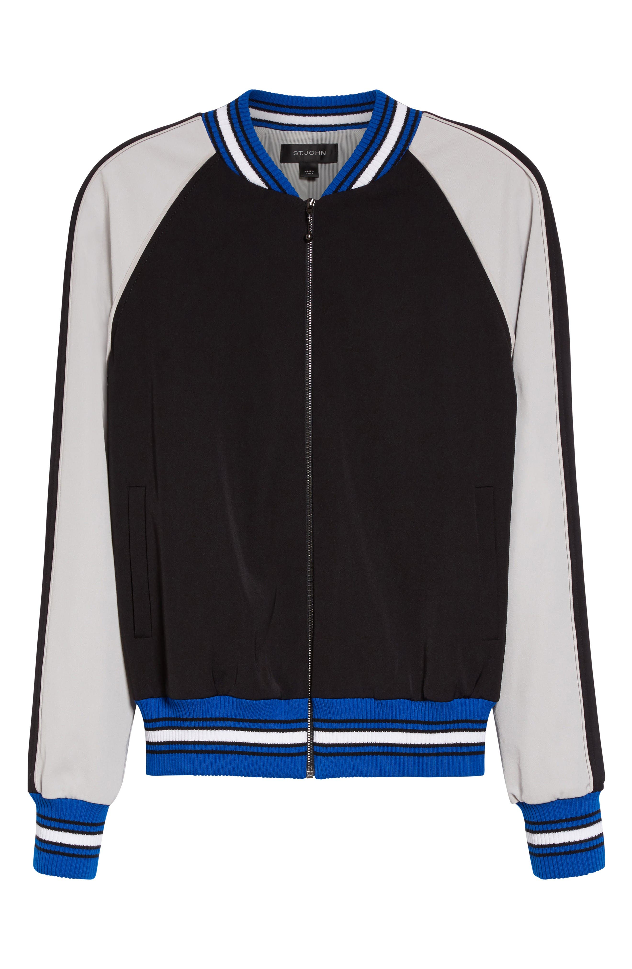Alternate Image 6  - St. John Collection Stretch Tech Twill Bomber
