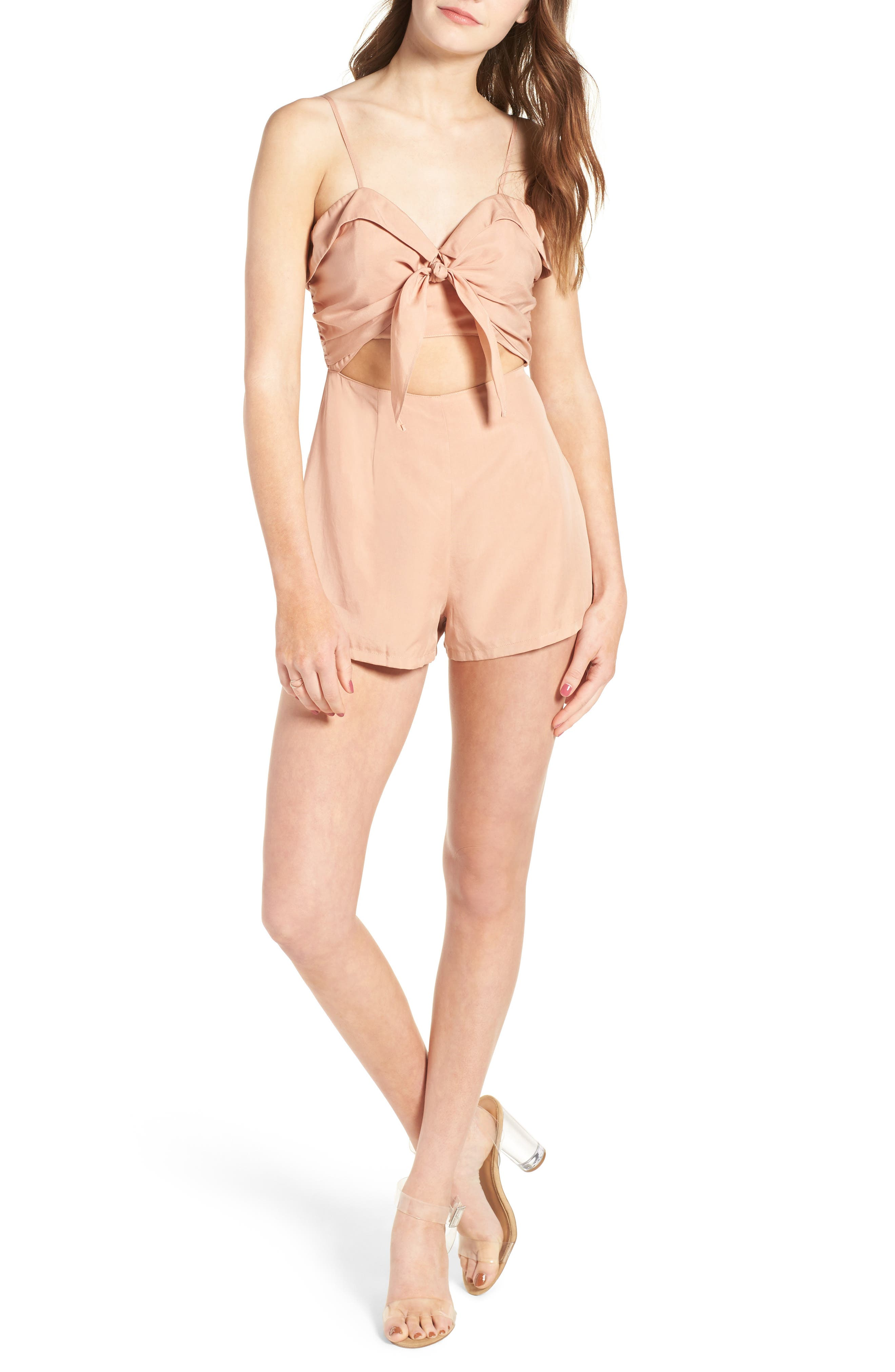 On the Go Romper,                         Main,                         color, Dusty Pink