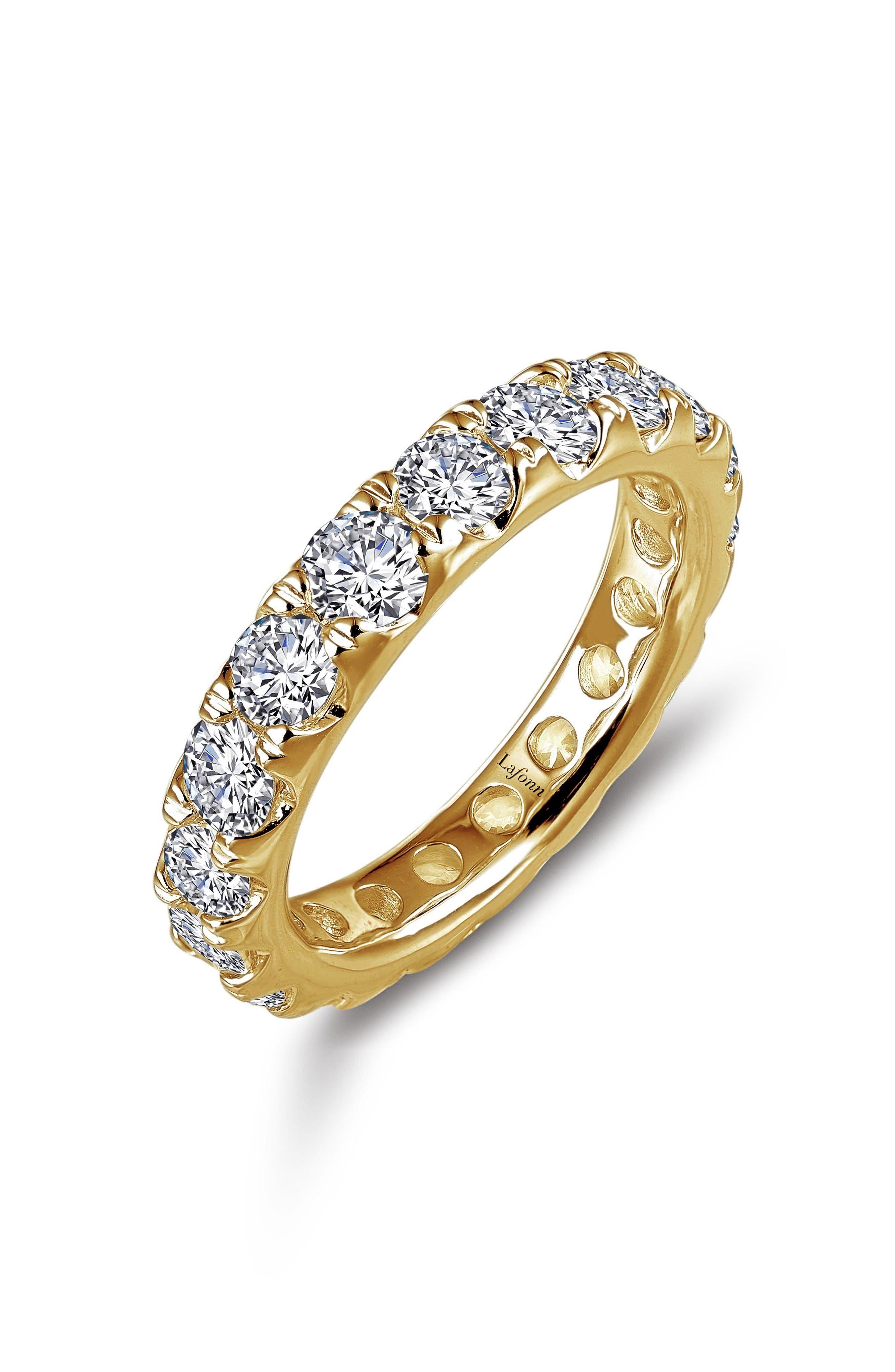 Simulated Diamond Eternity Band,                             Main thumbnail 1, color,                             Gold