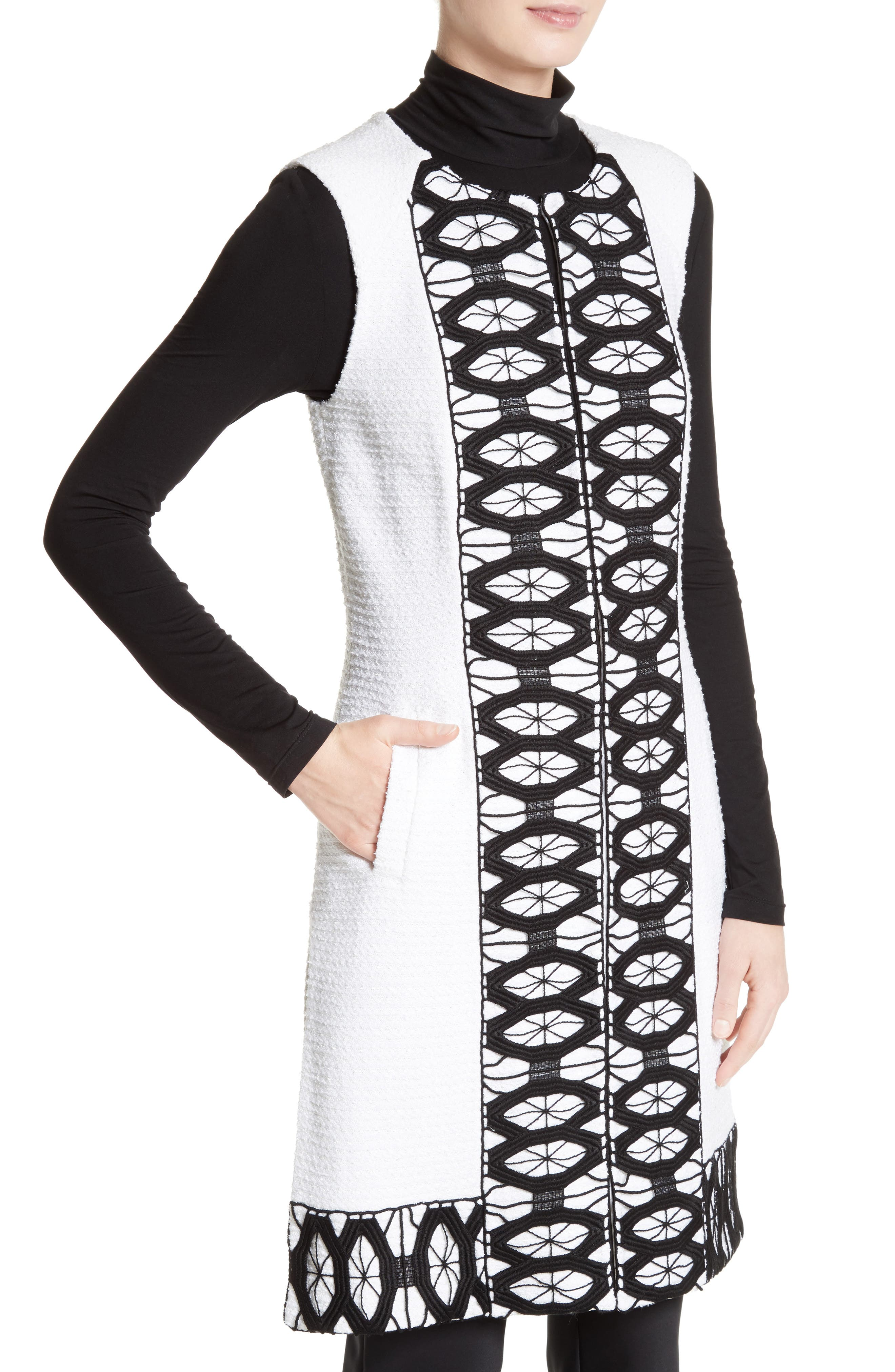Alternate Image 4  - St. John Collection Sara Lace Trim Long Vest