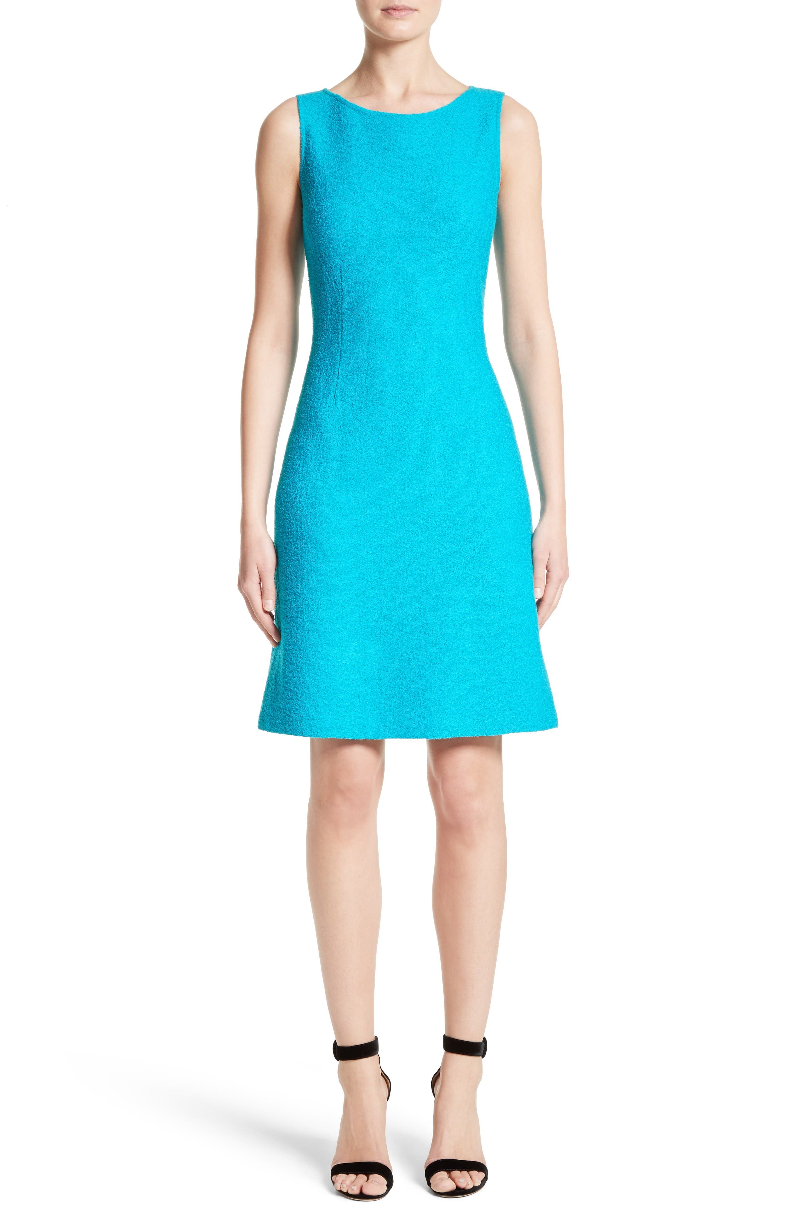 Main Image - St. John Collection Clair Knit A-Line Dress