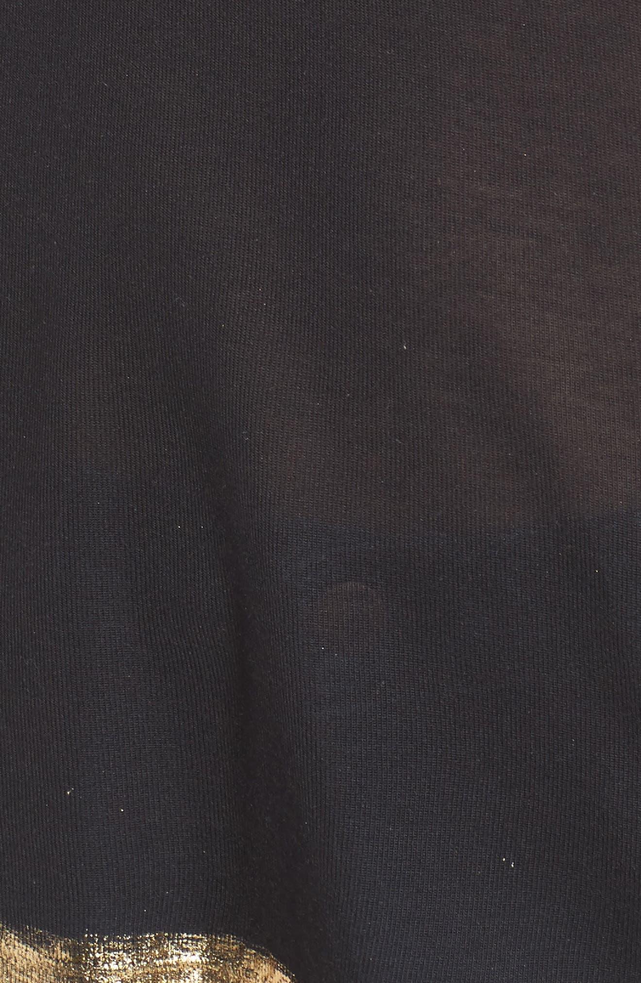Tino Foil Tee,                             Alternate thumbnail 5, color,                             Black