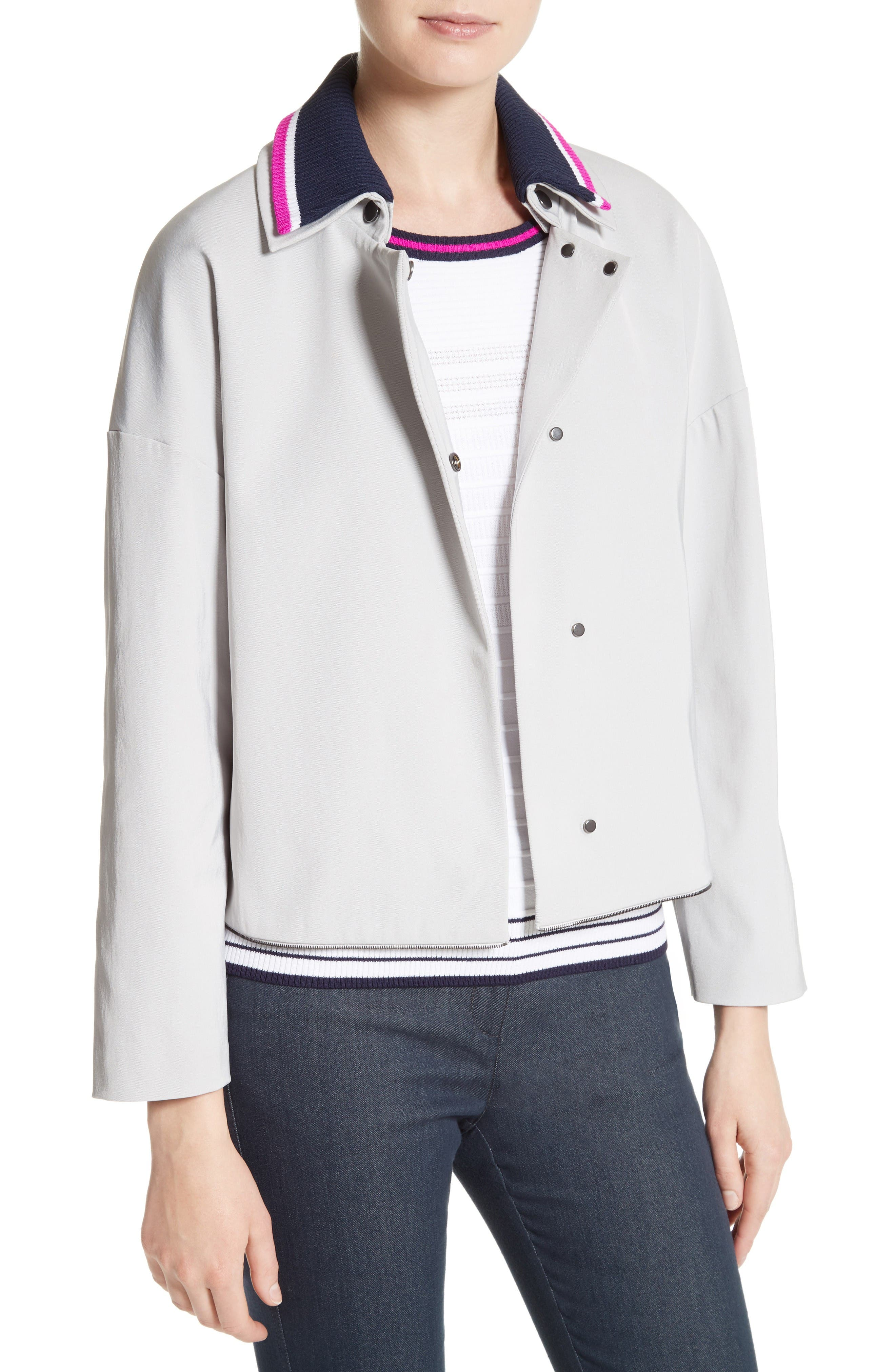 Alternate Image 4  - St. John Collection Stretch Twill Convertible Coat