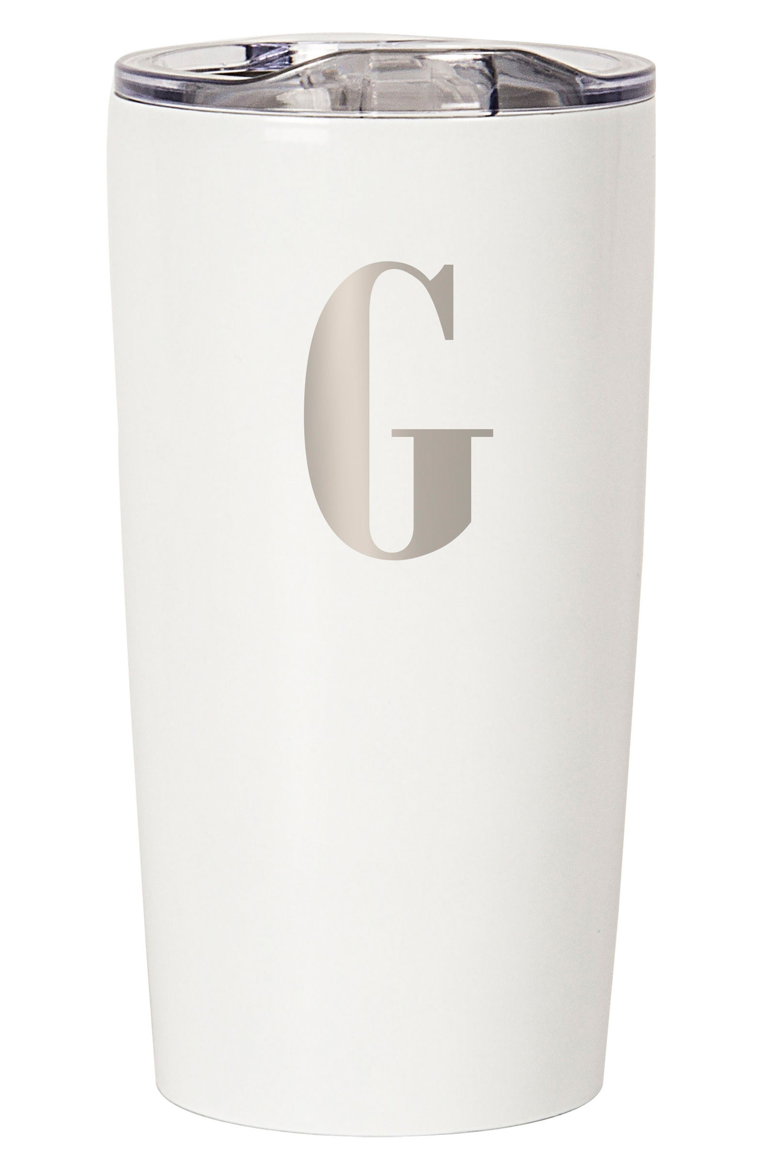 Alternate Image 1 Selected - Cathy's Concepts Monogram Stainless Steel Tumbler