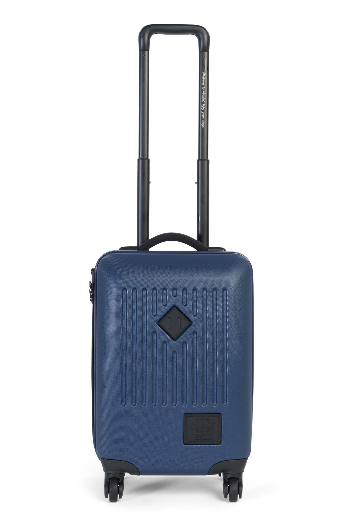 Herschel Supply Co Trade Small 20-Inch Rolling Hard Shell Suitcase,                             Main thumbnail 1, color,                             Navy