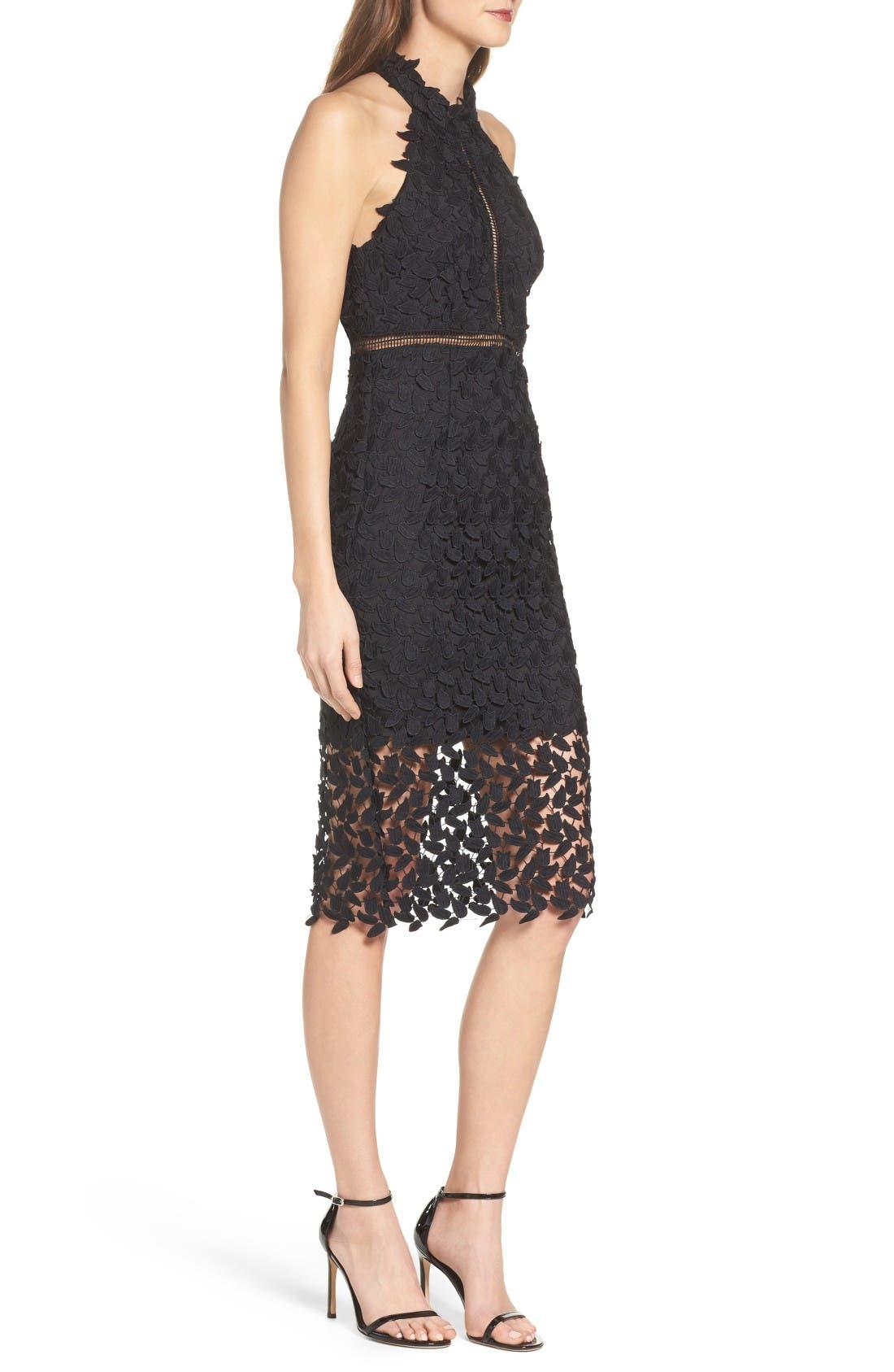 Alternate Image 3  - Bardot Gemma Halter Lace Sheath Dress