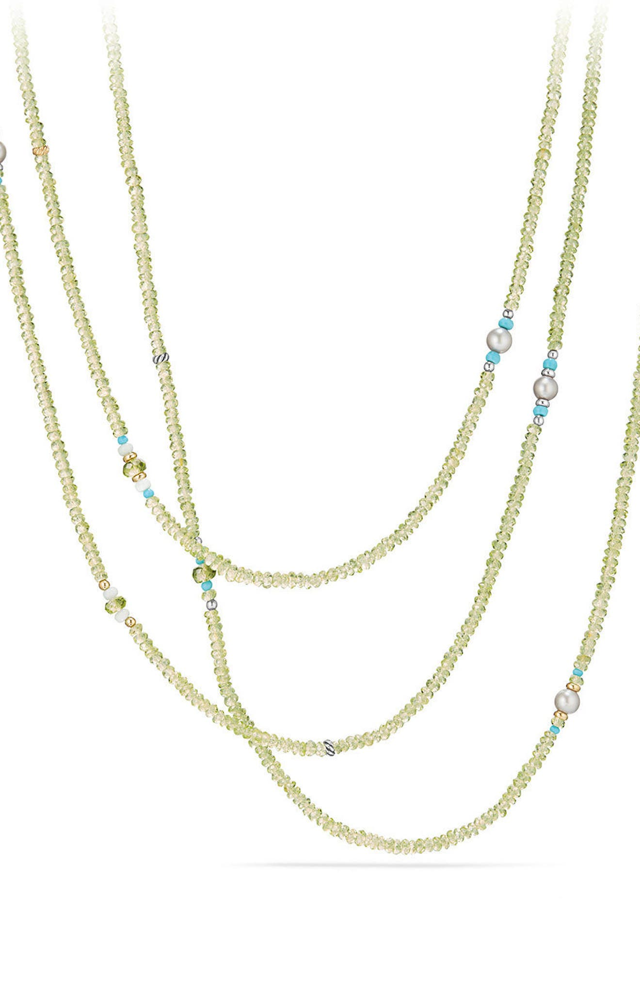 Mustique Tweejoux Beaded Necklace,                             Main thumbnail 1, color,                             Silver/ Gold/ Multi