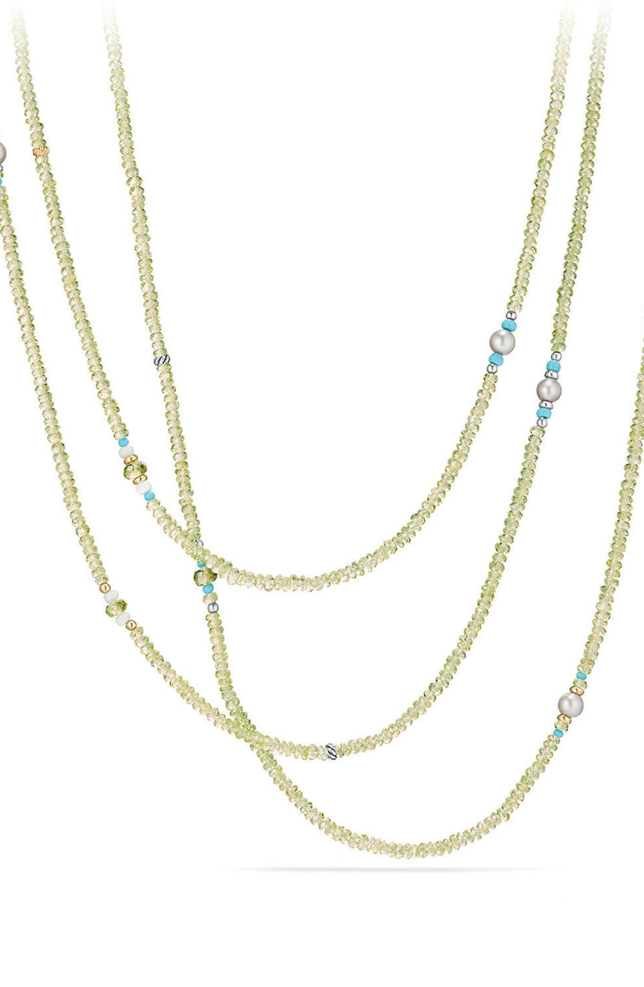 Mustique Tweejoux Beaded Necklace,                         Main,                         color, Silver/ Gold/ Multi