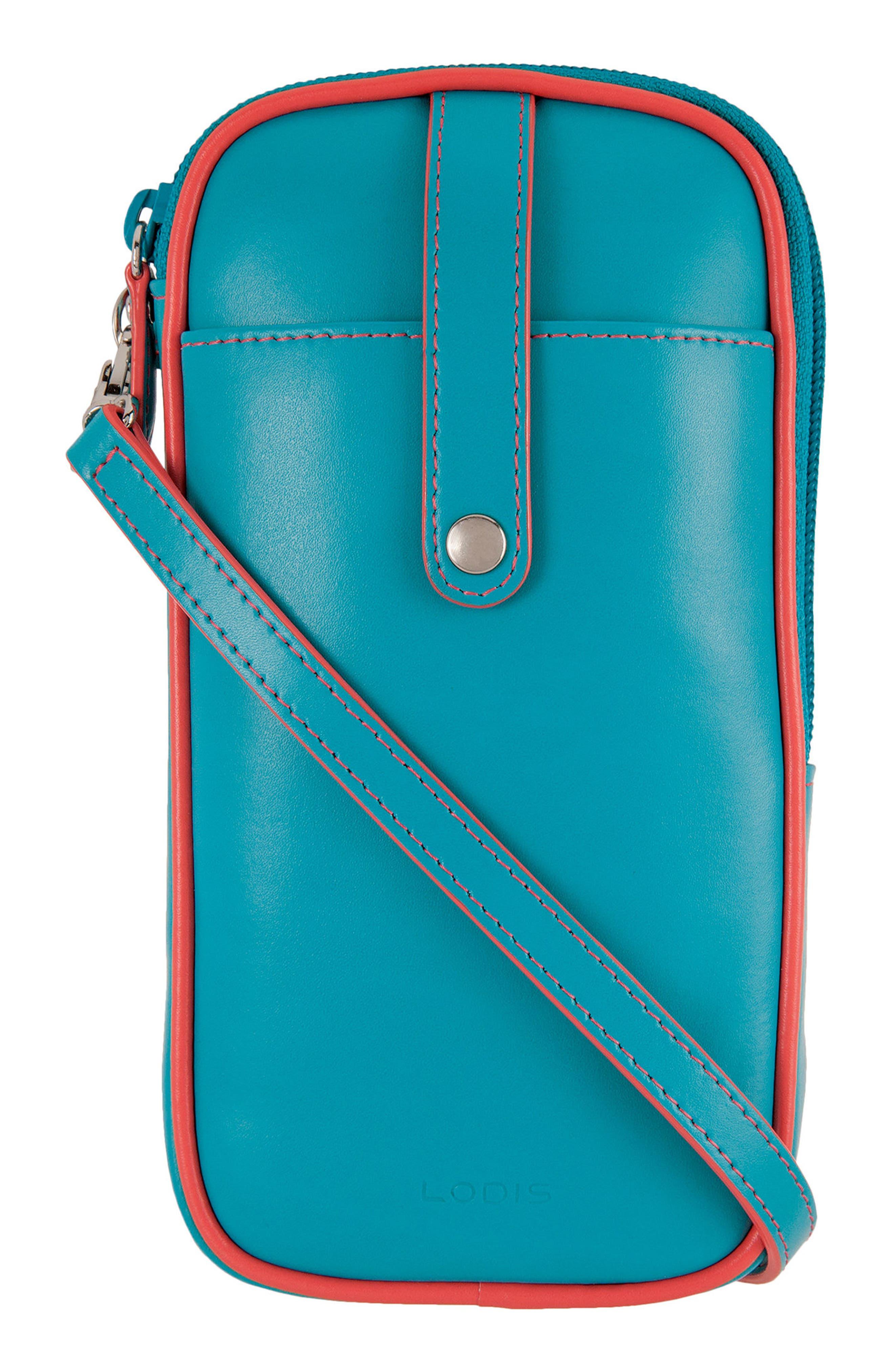 Lodis Mini Audrey Blossom Leather Crossbody Bag