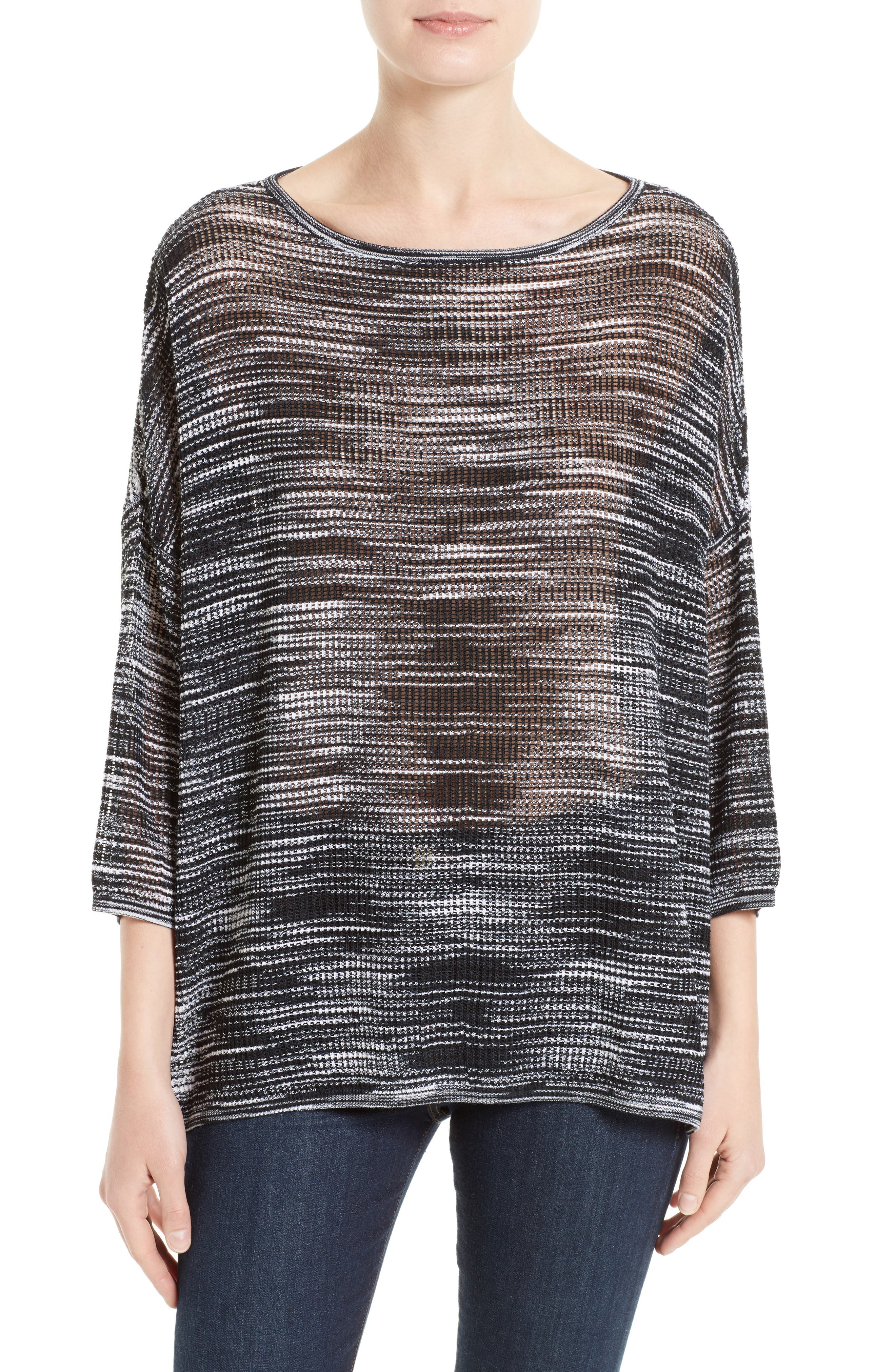 Space Dyed Ripple Top,                         Main,                         color, Black