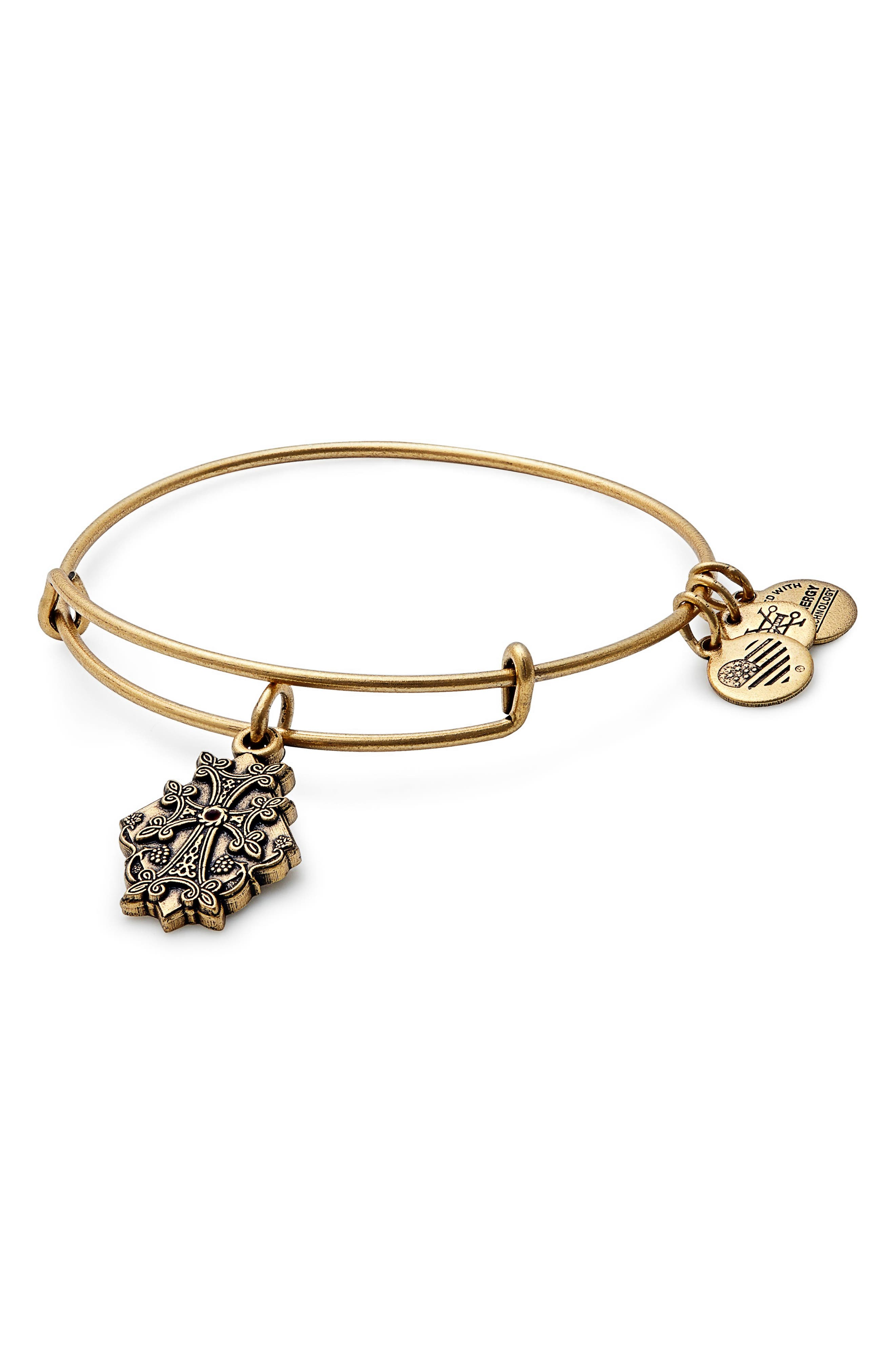 Main Image - Alex and Ani Armenian Cross Adjustable Wire Bangle