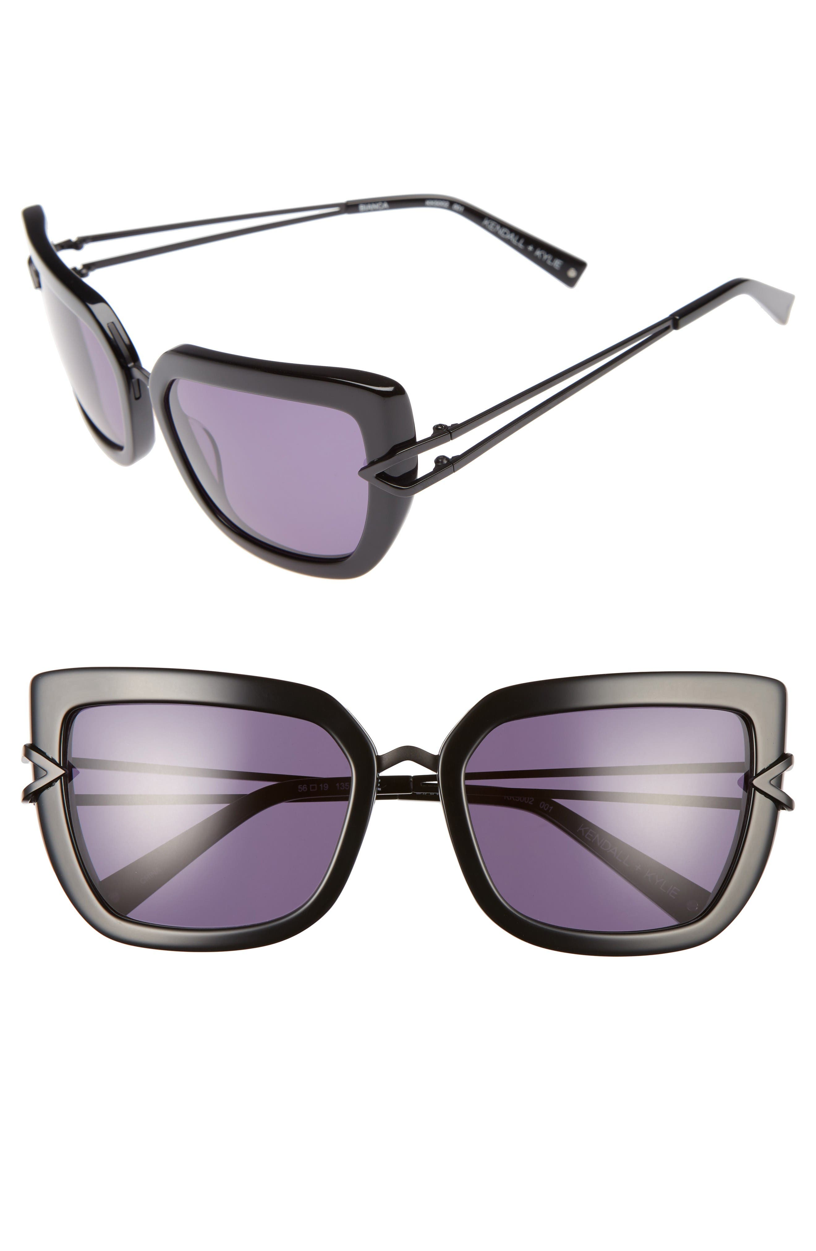 Main Image - KENDALL + KYLIE Bianca 56mm Cat Eye Sunglasses