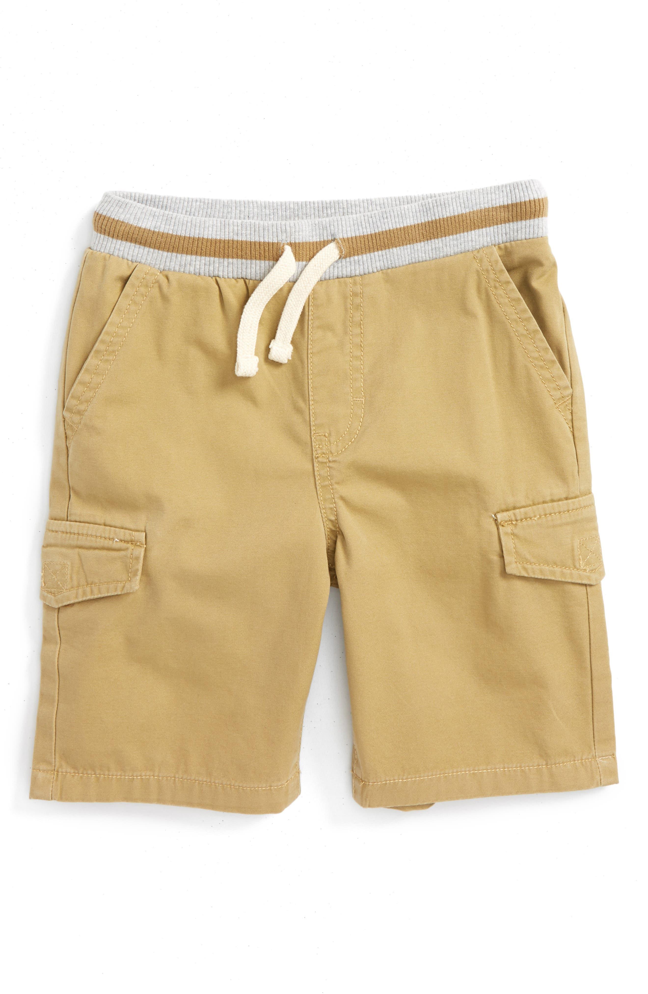 Ribbed Waist Utility Shorts,                         Main,                         color, Tan Kelp