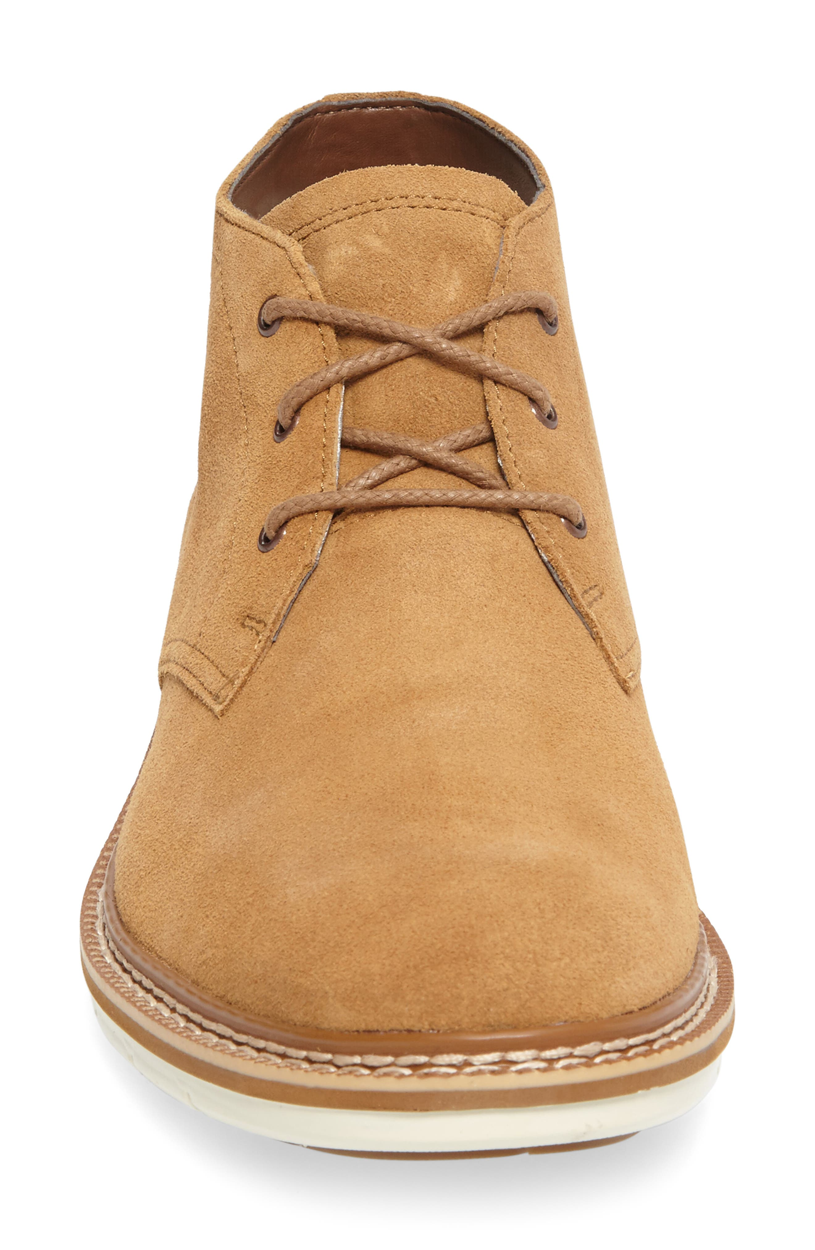Naples Trail Chukka Boot,                             Alternate thumbnail 4, color,                             Rubber Suede