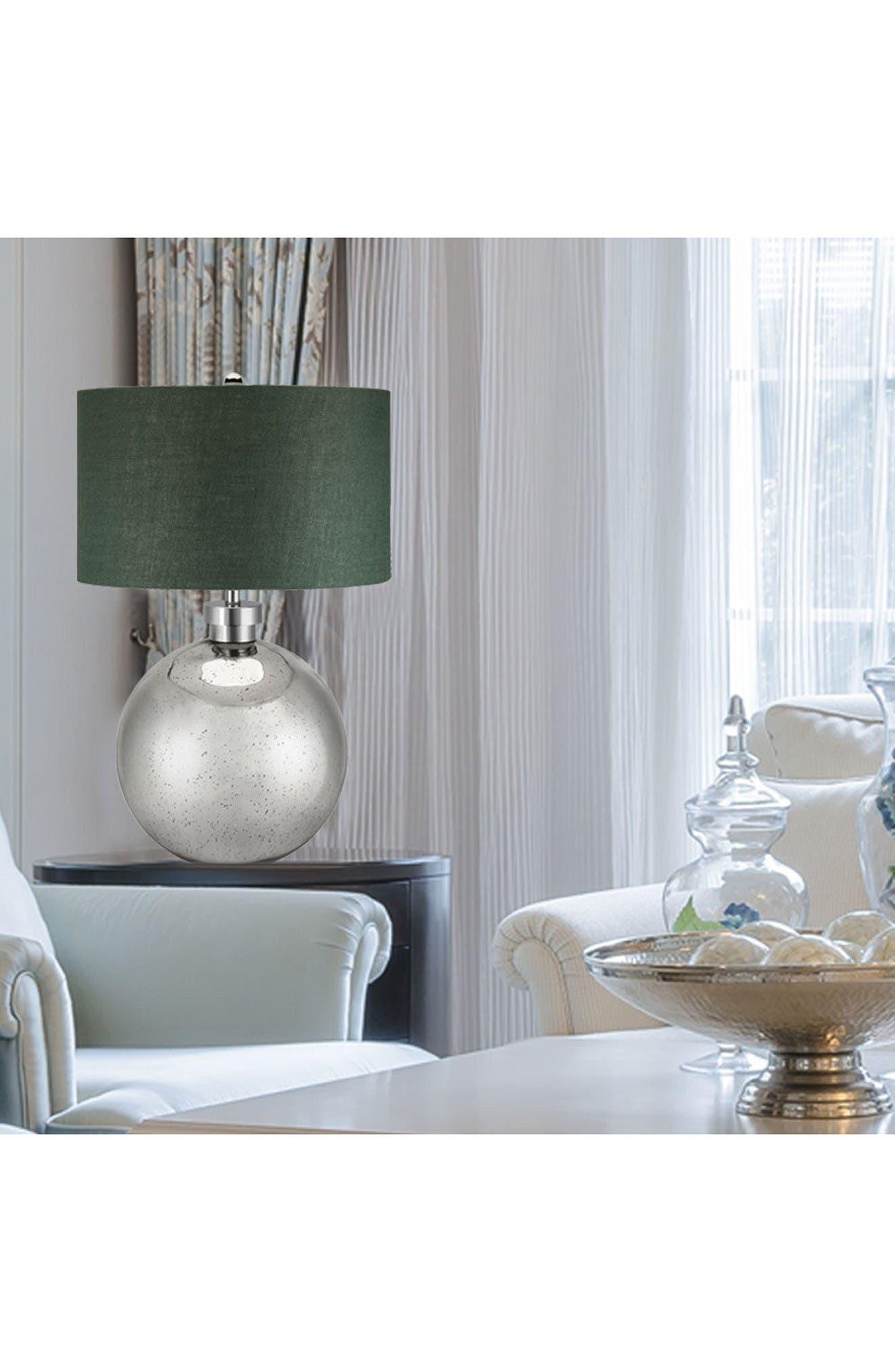 JAlexander Luna Mercury Glass Table Lamp,                             Alternate thumbnail 2, color,                             Silver